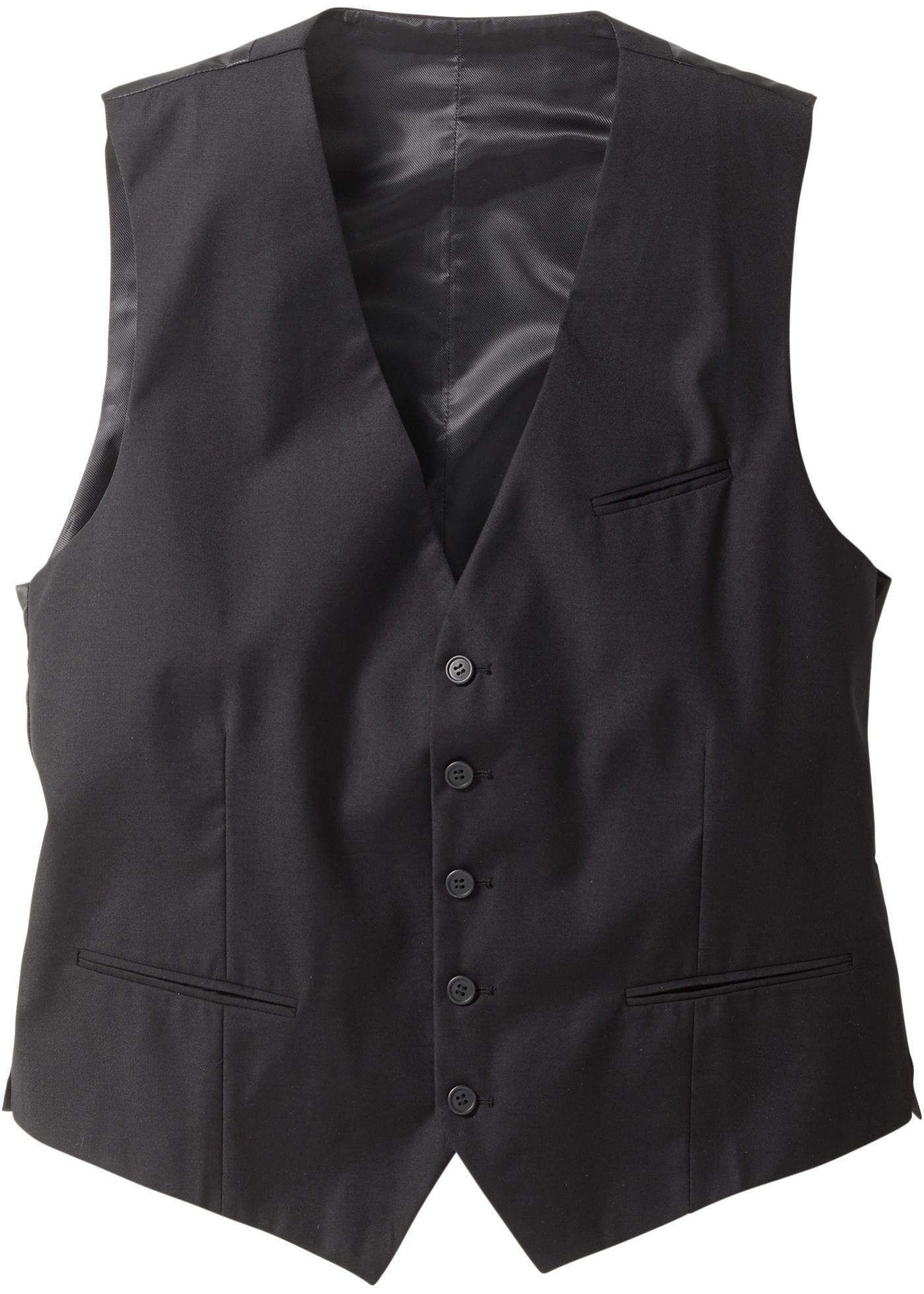 Gilet de costume regular fit noir sans manches...