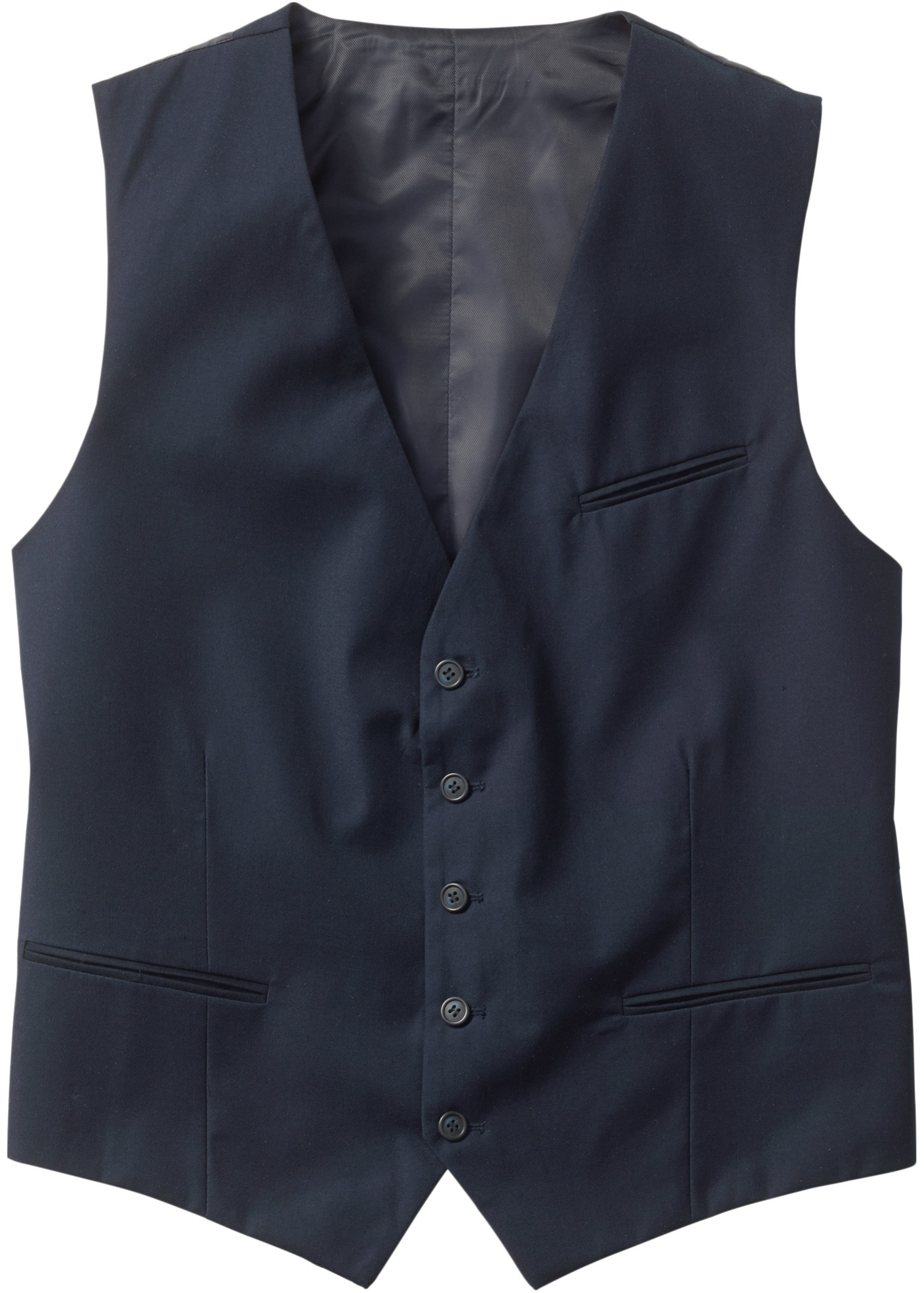 Gilet de costume regular fit bleu sans manches...