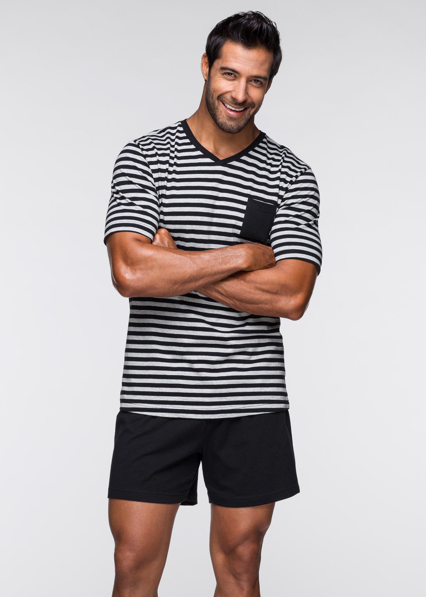 Pyjashort noir manches courtes lingerie - bonprix