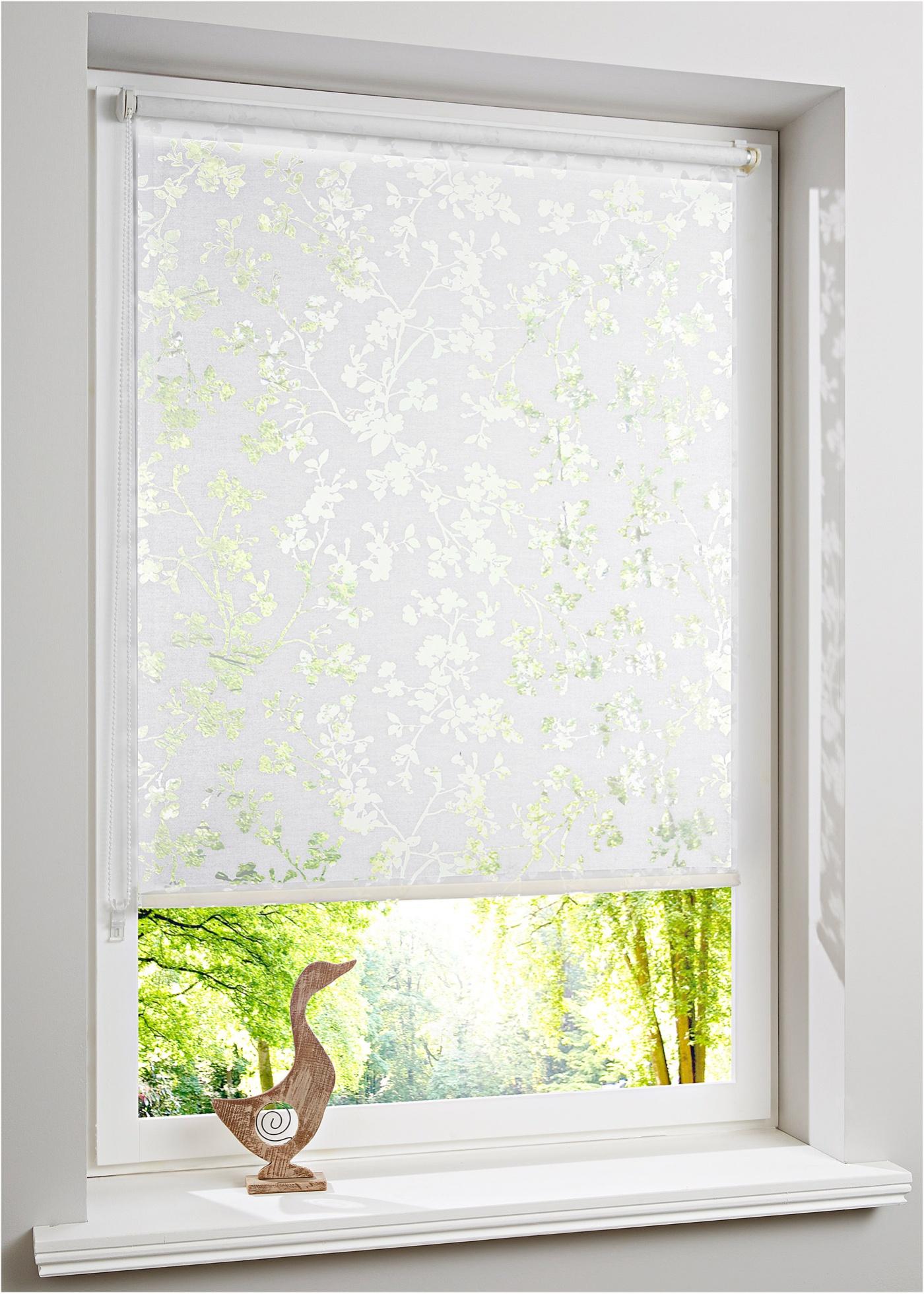 """Store à clipser, coulisse latérale, motif fleuri délicat, tissu dévoré, hauteur modulable, pose facile - sans perçage - se clipse directement sur le cadre de la fenêtre, convient pour un châssis de fenêtre d""""une épaisseur jusqu""""à 1,5 cm. Notice"""