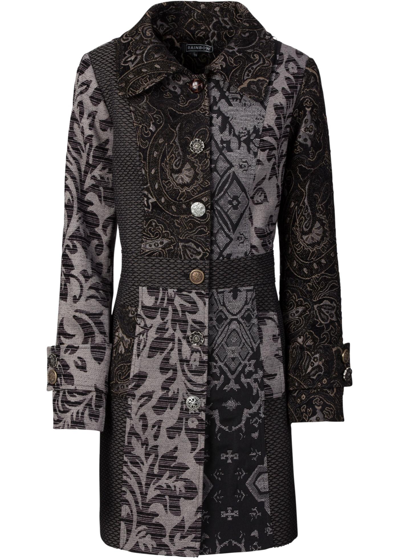 Manteau en jacquard mode