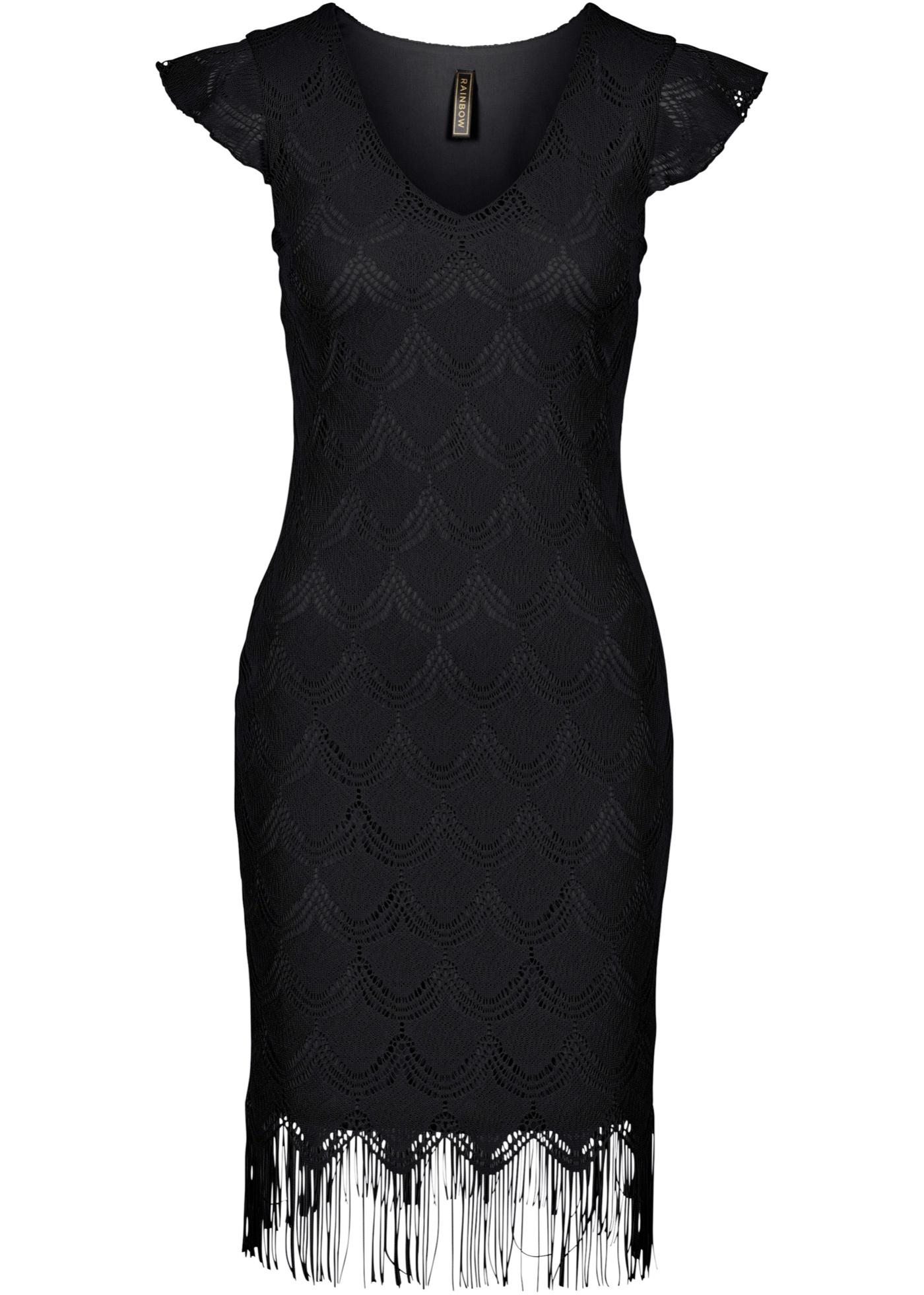 Robe noir femme - bonprix