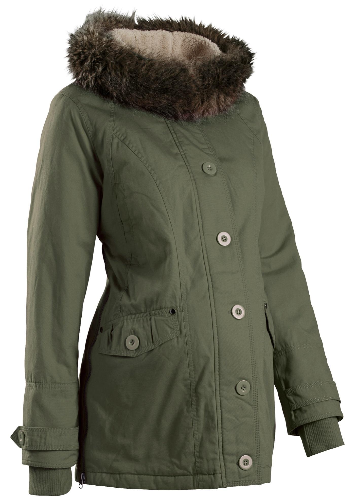Manteau de grossesse avec capuche vert manches...