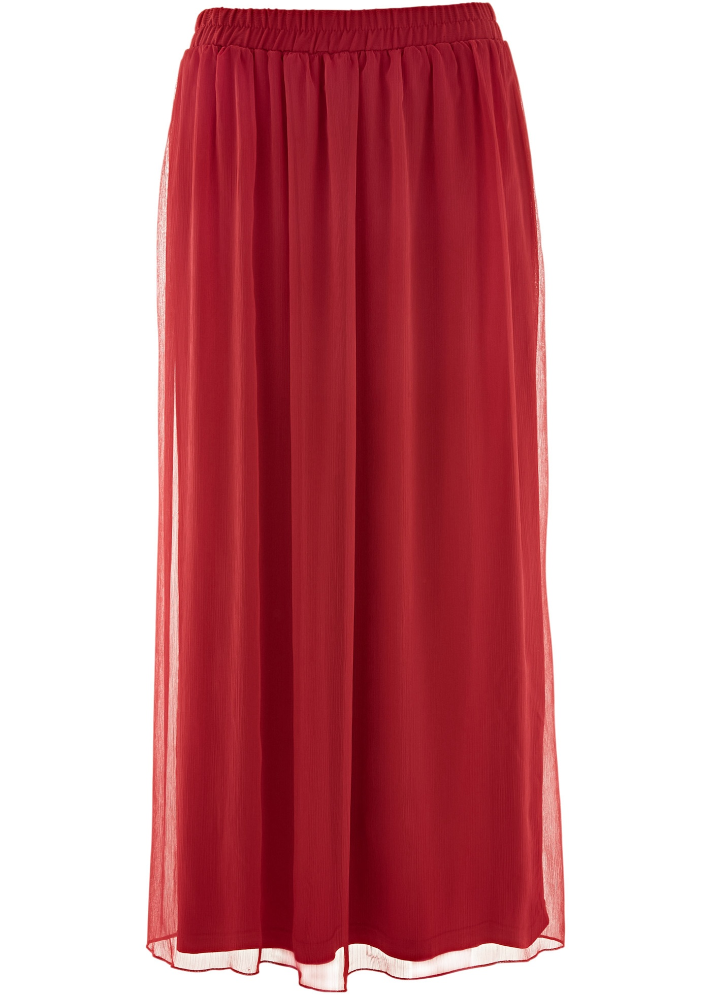 Jupe longue en chiffon rouge femme - bonprix