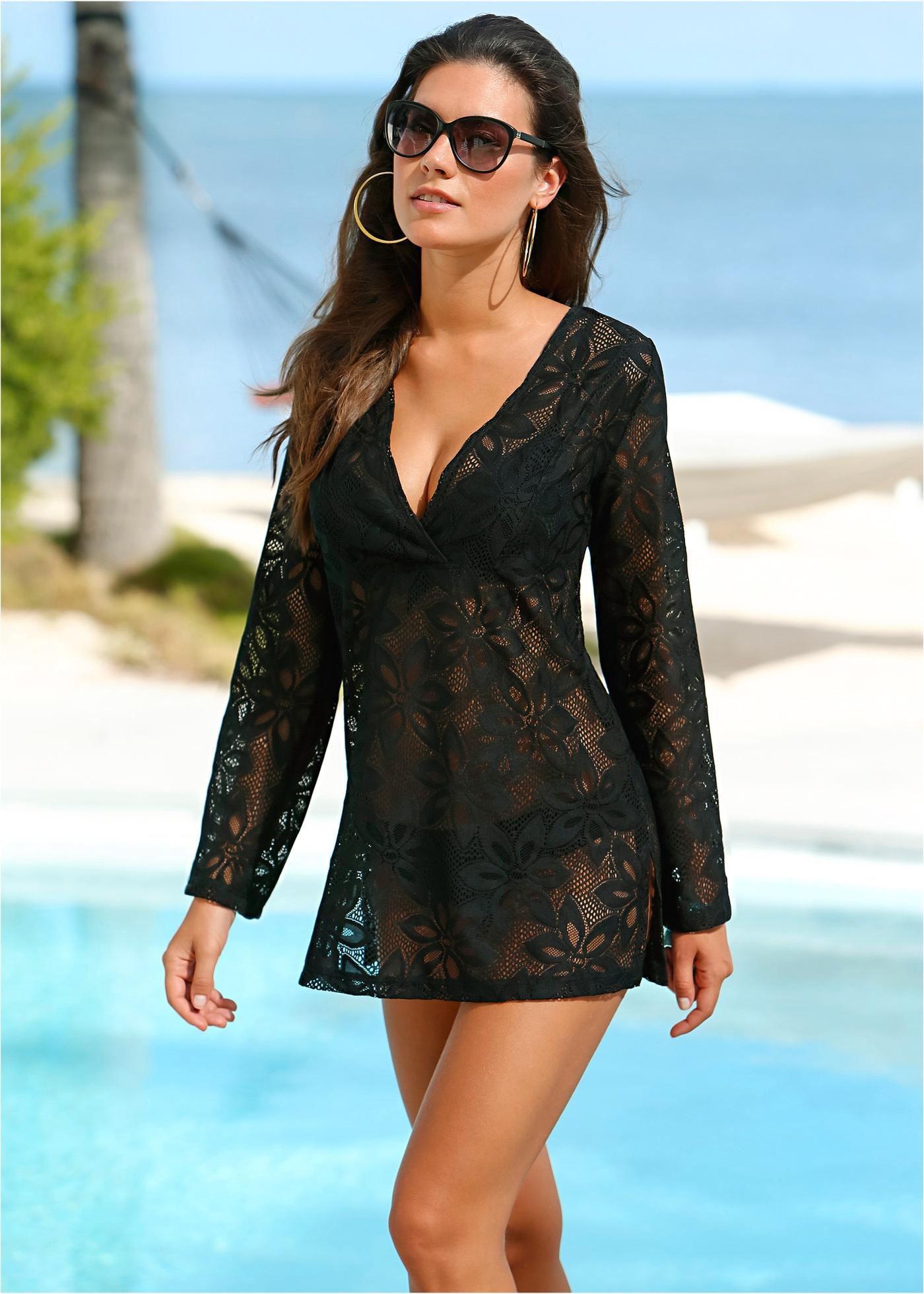 Tunique de plage noir femme - bonprix