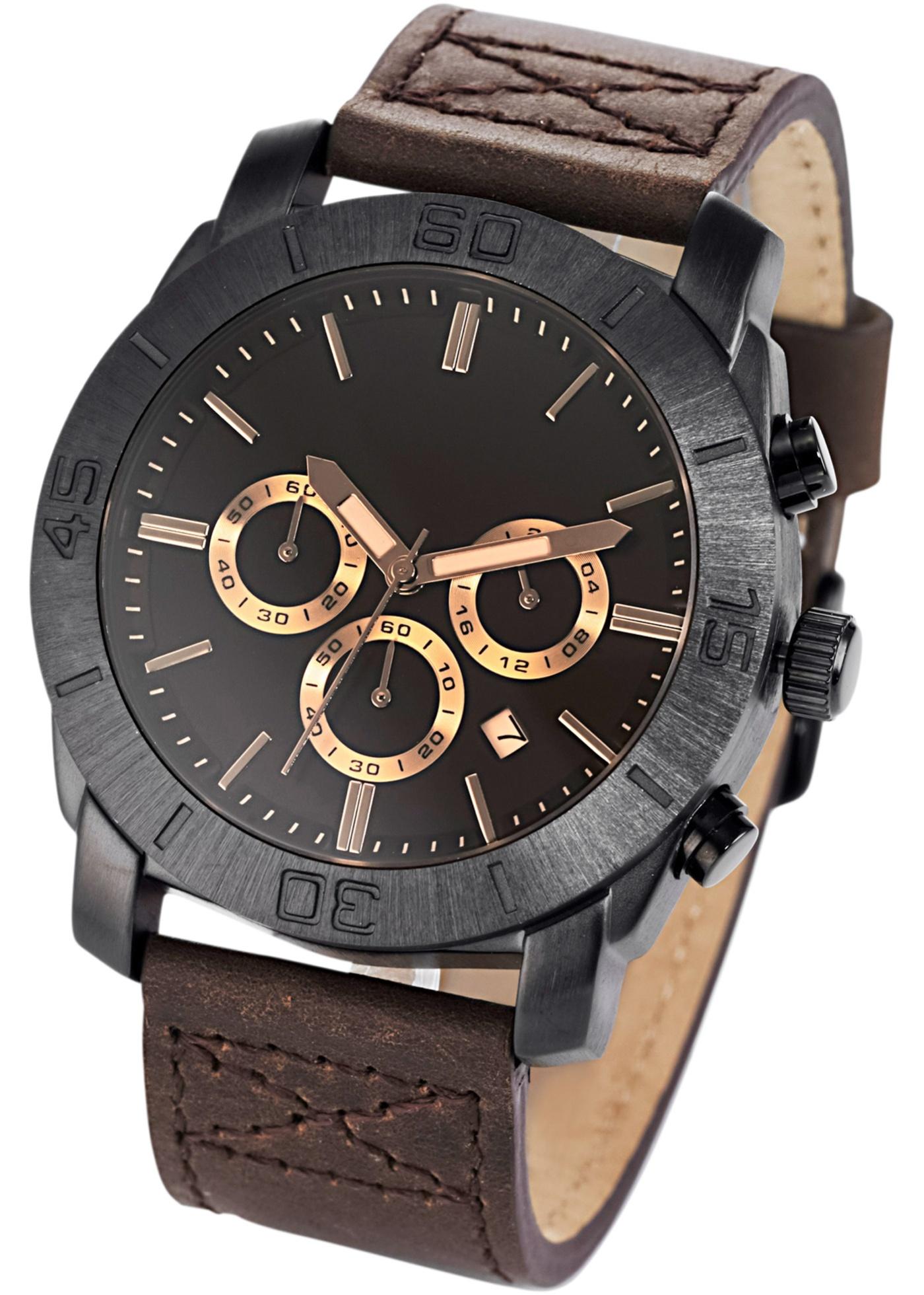 Cette montre affiche décontraction et élégance ! Le design intemporel en fait un accessoire parfait pour le bureau et les loisirs. Bracelet en cuir au confort élevé.
