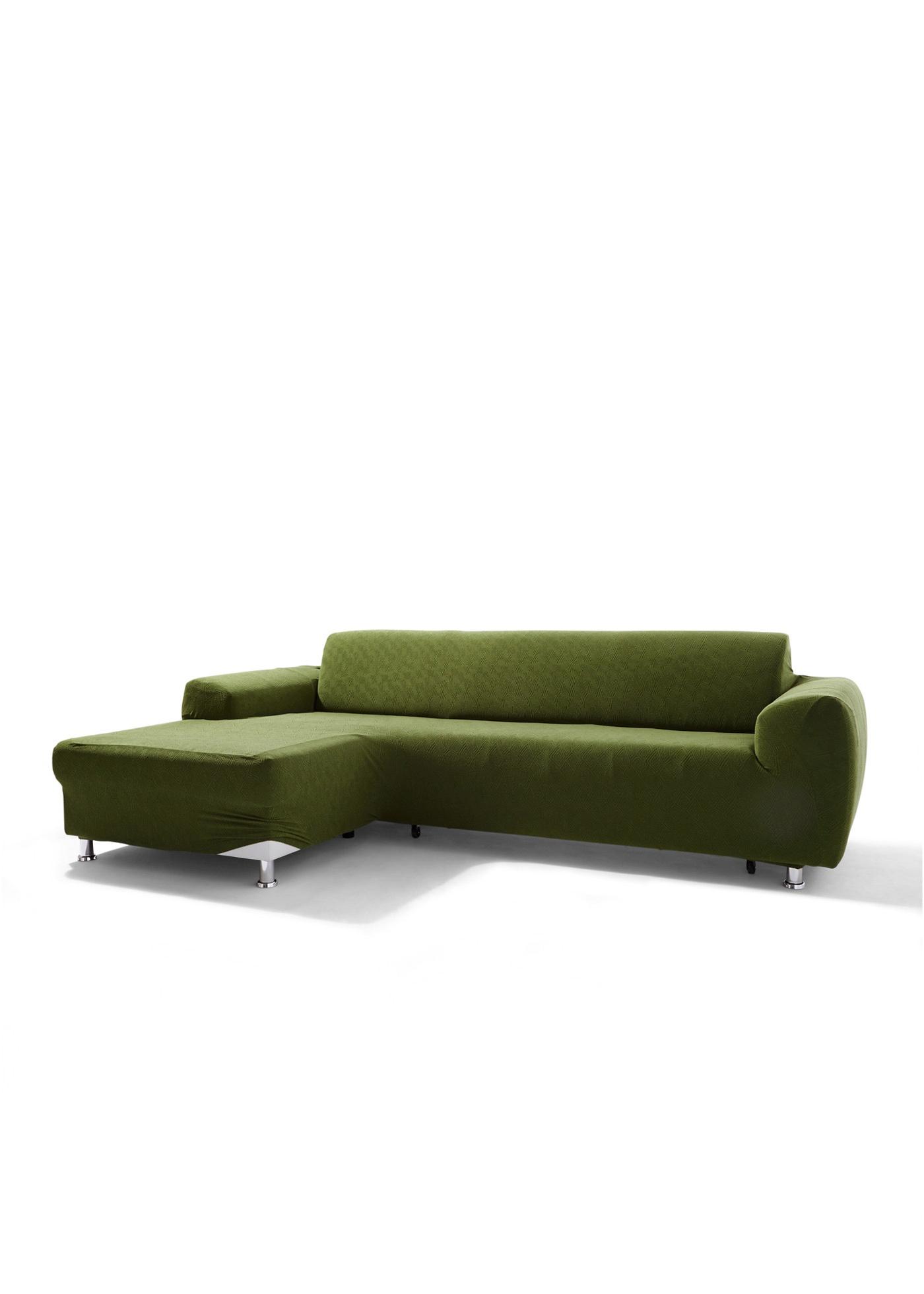 """Complète la gamme de housses Ethno. Adaptée pour un canapé avec ottomane et conçue pour des canapés d""""angle avec accoudoirs des deux côtés. La housse a une très bonne tenue. Elle est proposée dans des coloris chaleureux et disponible dans différentes"""