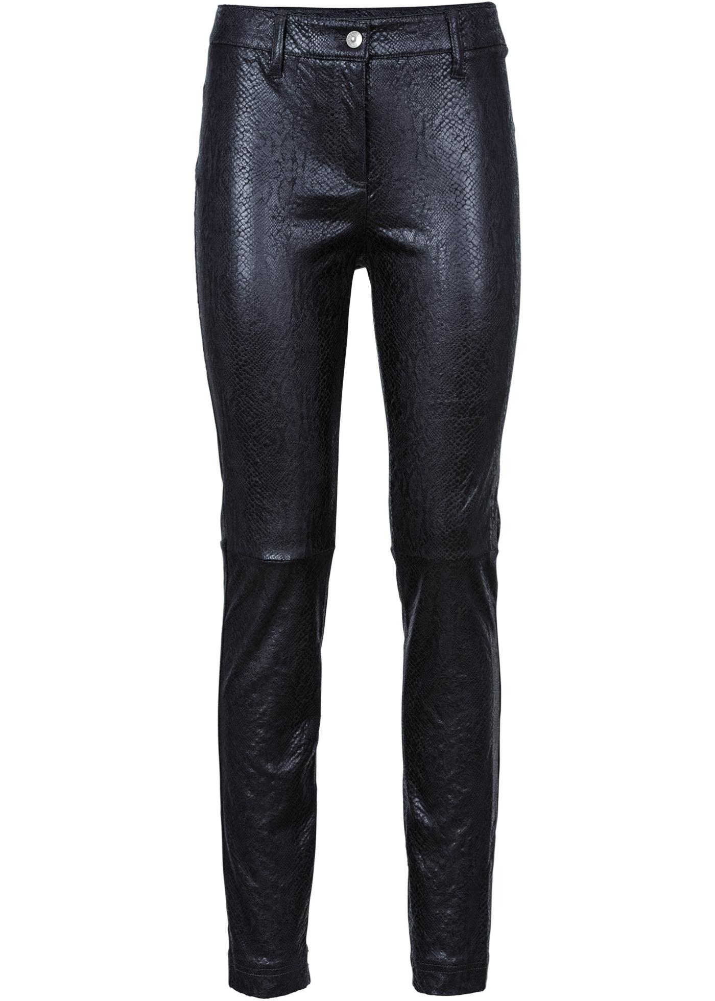 Pantalon synthétique imitation cuir velours...