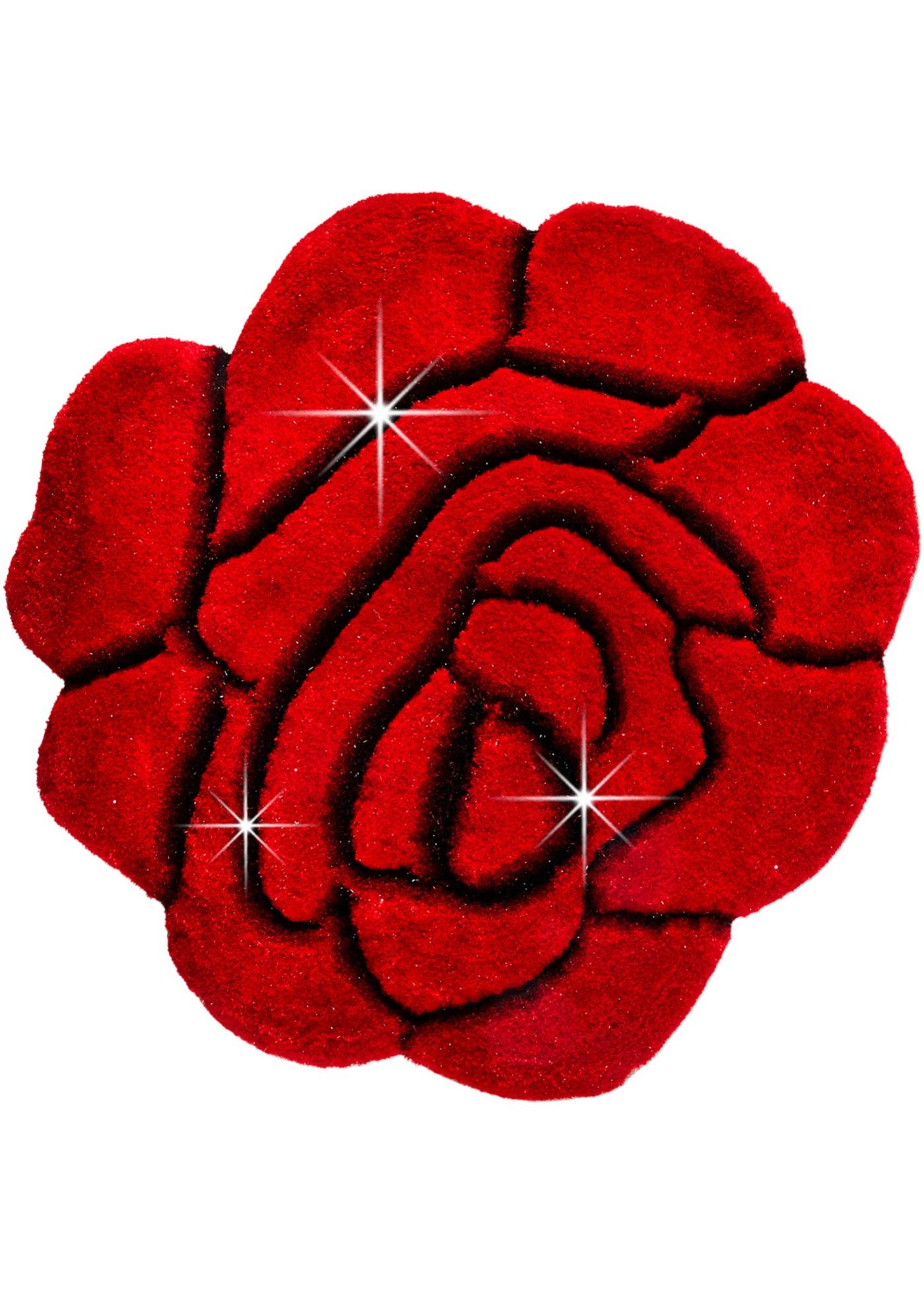 """Tapis de qualité supérieure en forme de fleur avec fil brillant et superbe effet de relief, poids env. 3500 g/m², hauteur totale env. 38 mm, robuste et facile d""""entretien, convient au chauffage par le sol, dossier avec revêtement textile. Les dimensi"""