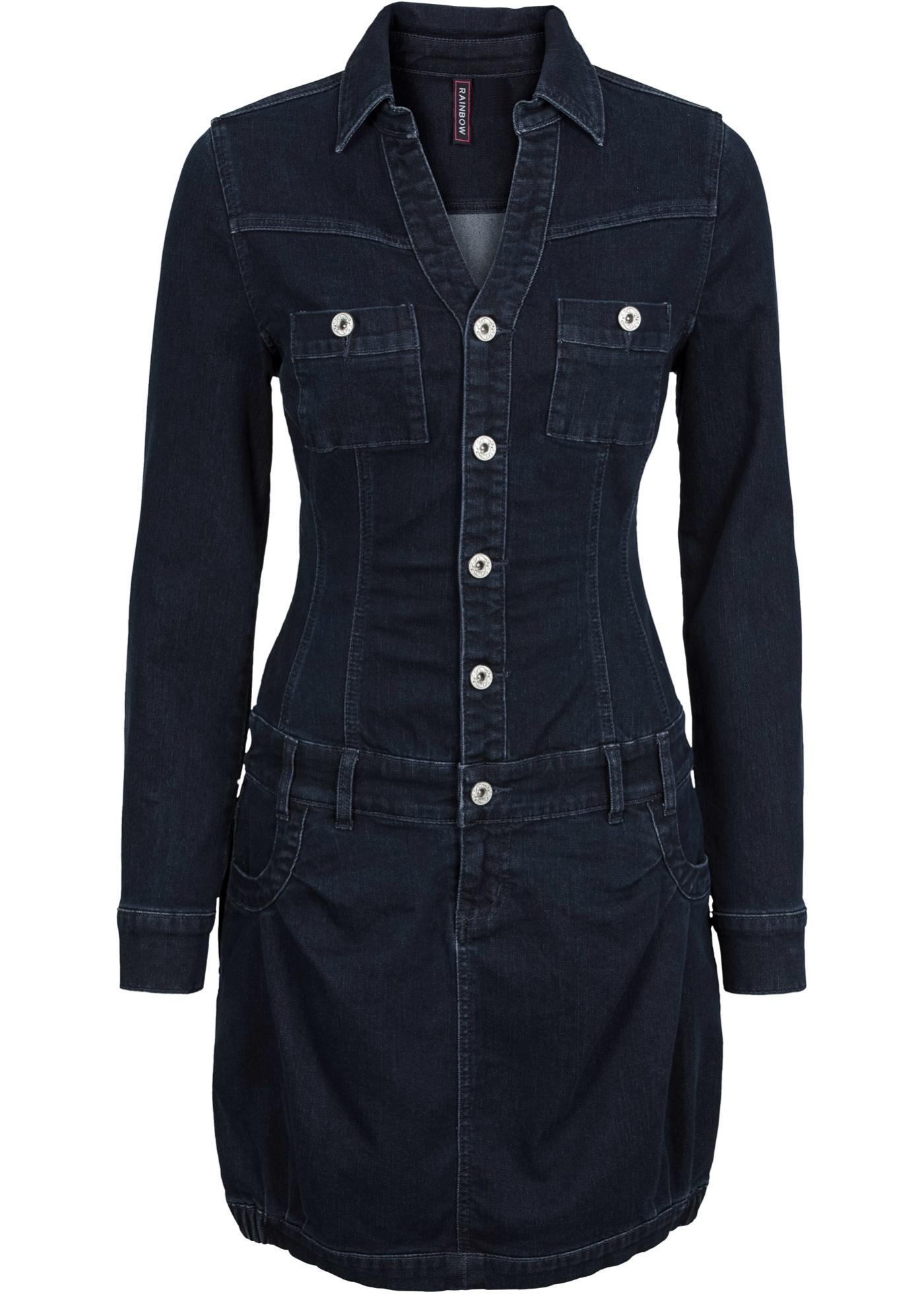 Robe en jean manches longues