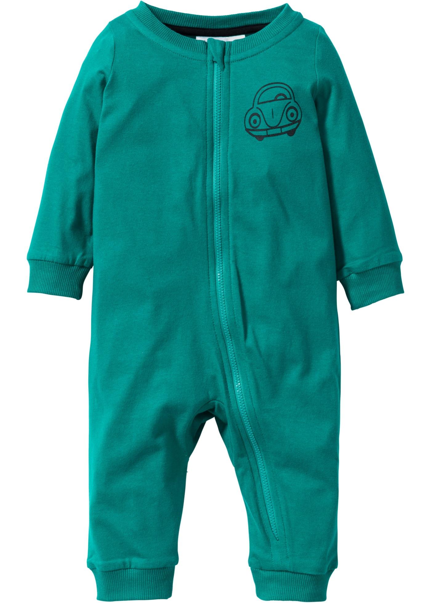 Grenouillère bébé en coton bio vert enfant -...