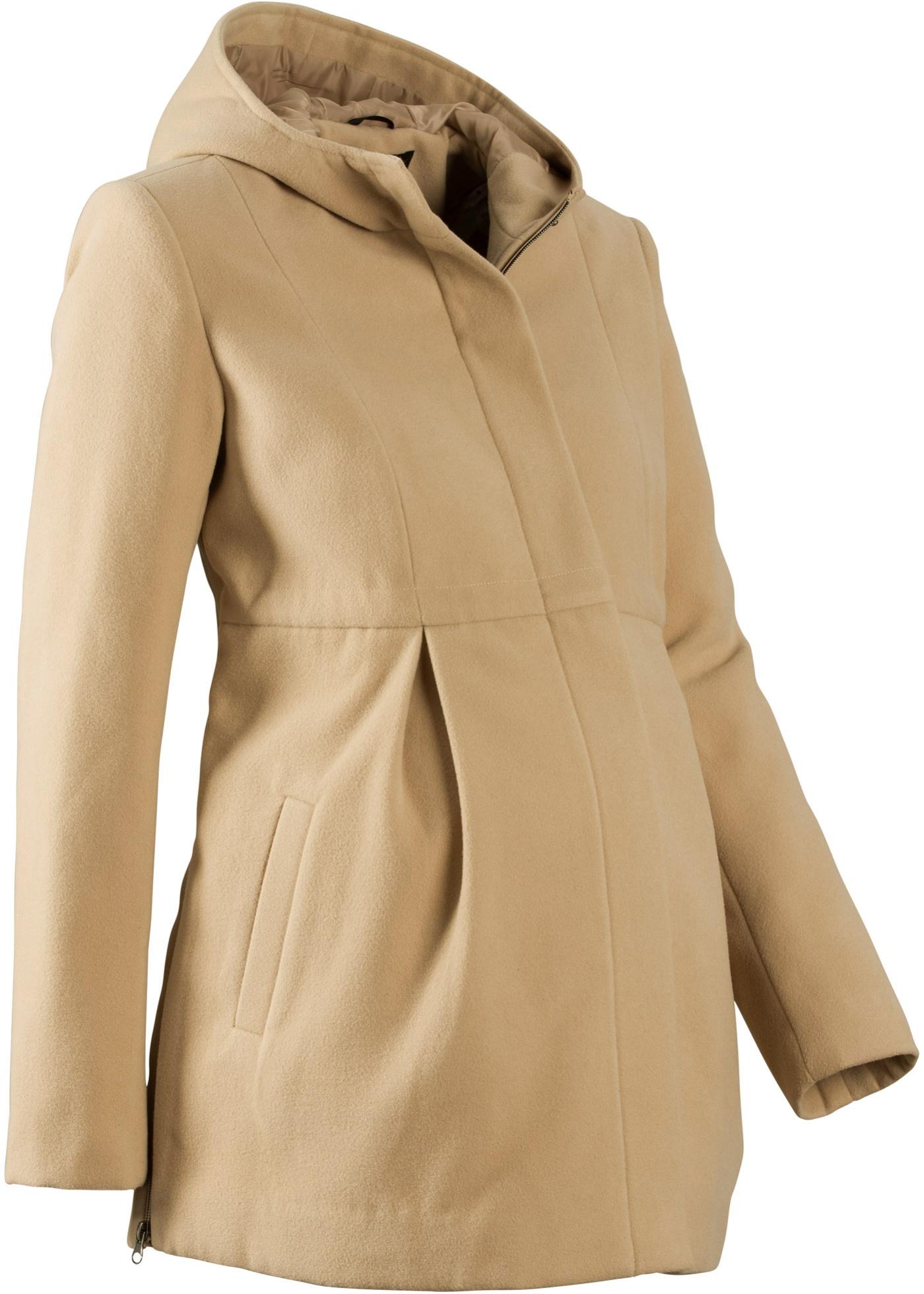 Manteau de grossesse avec capuche, ajustable