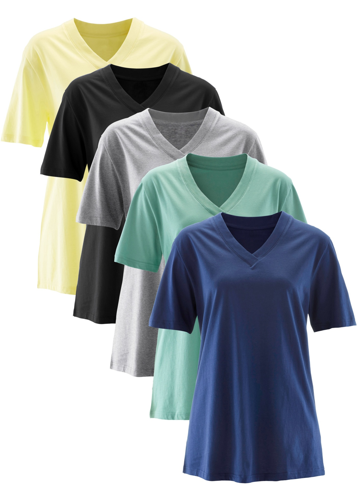 Lot de 5 t-shirts avec col en V