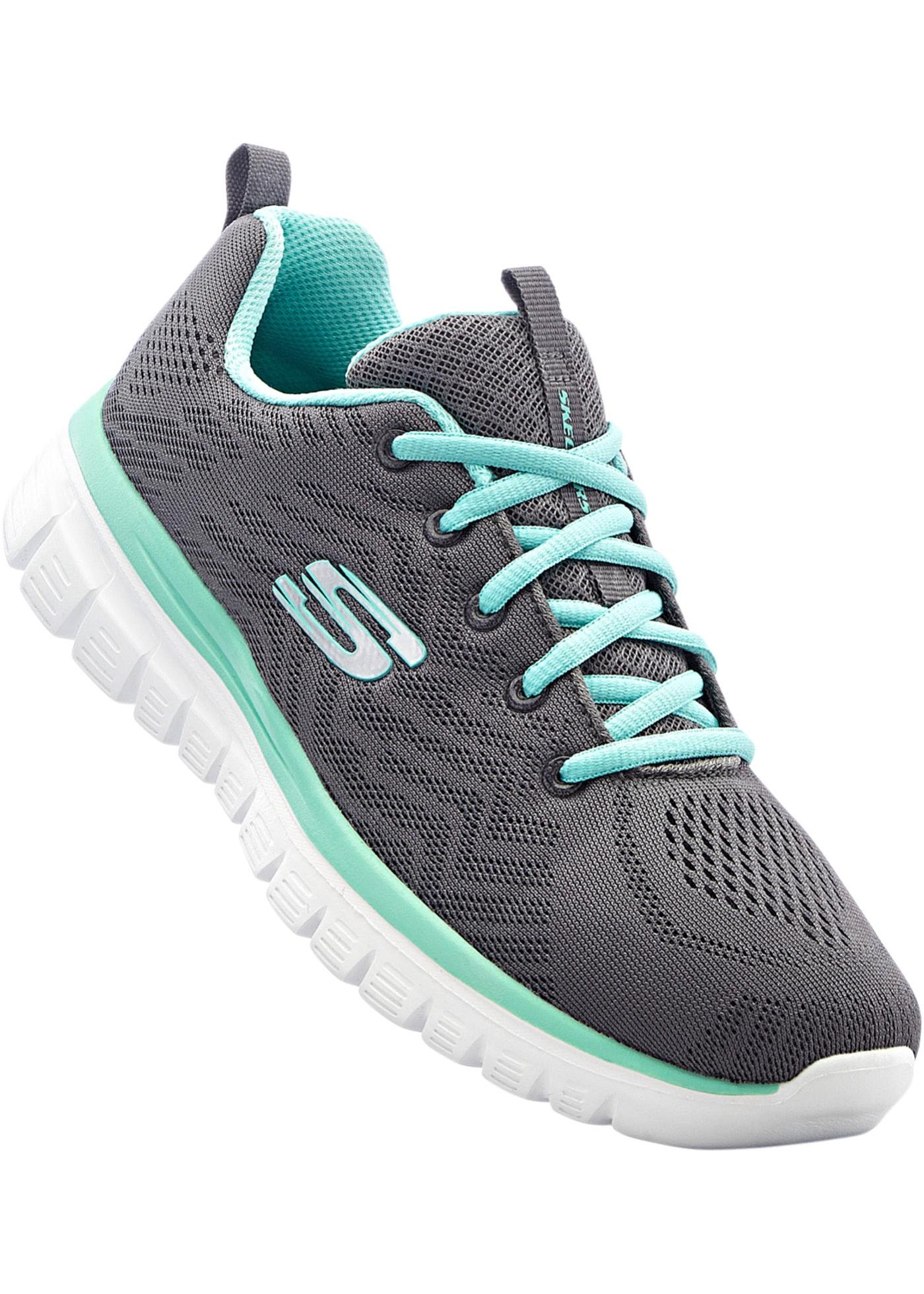 Sportives et mode, avec lacets, Skechers avec semelle à mémoire de forme.