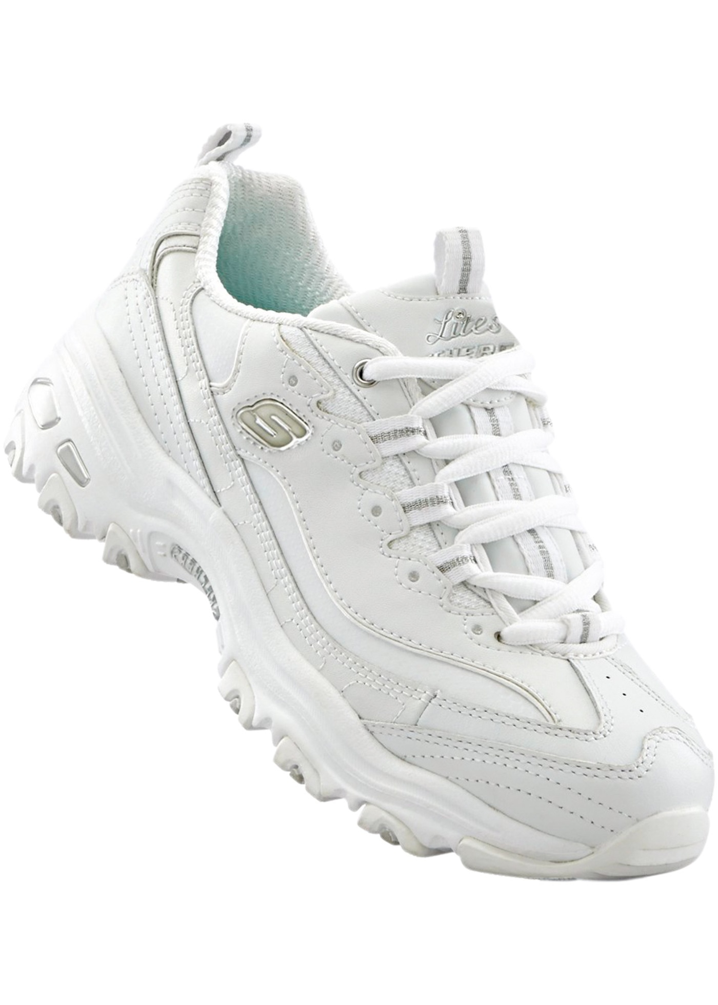 Sportives et stylées, avec lacets, Skechers avec semelle à mémoire de forme.