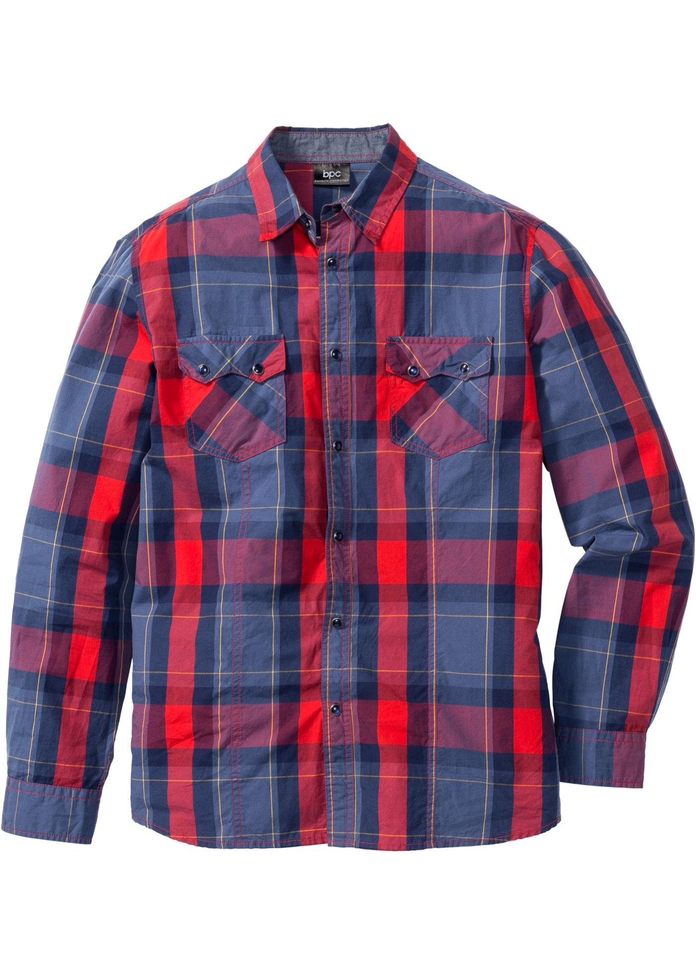 Chemise à carreaux manches longues Regular Fit