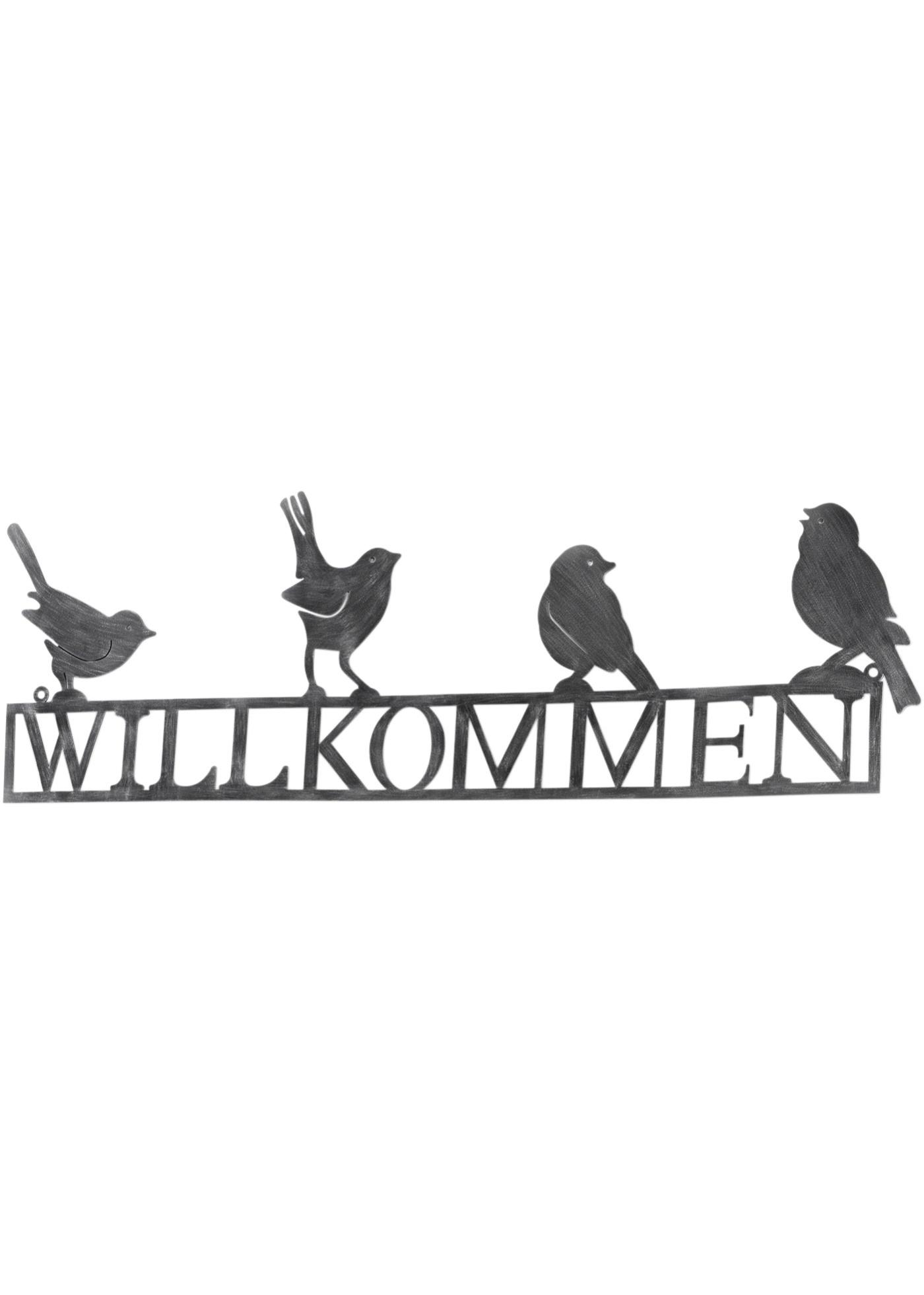 Plaque de bienvenue Birds