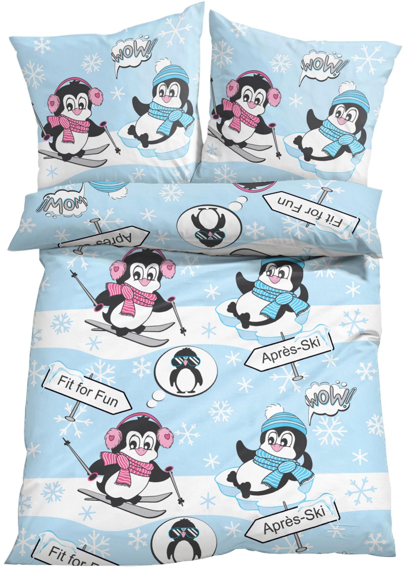 Parure de lit Pingouin, linon