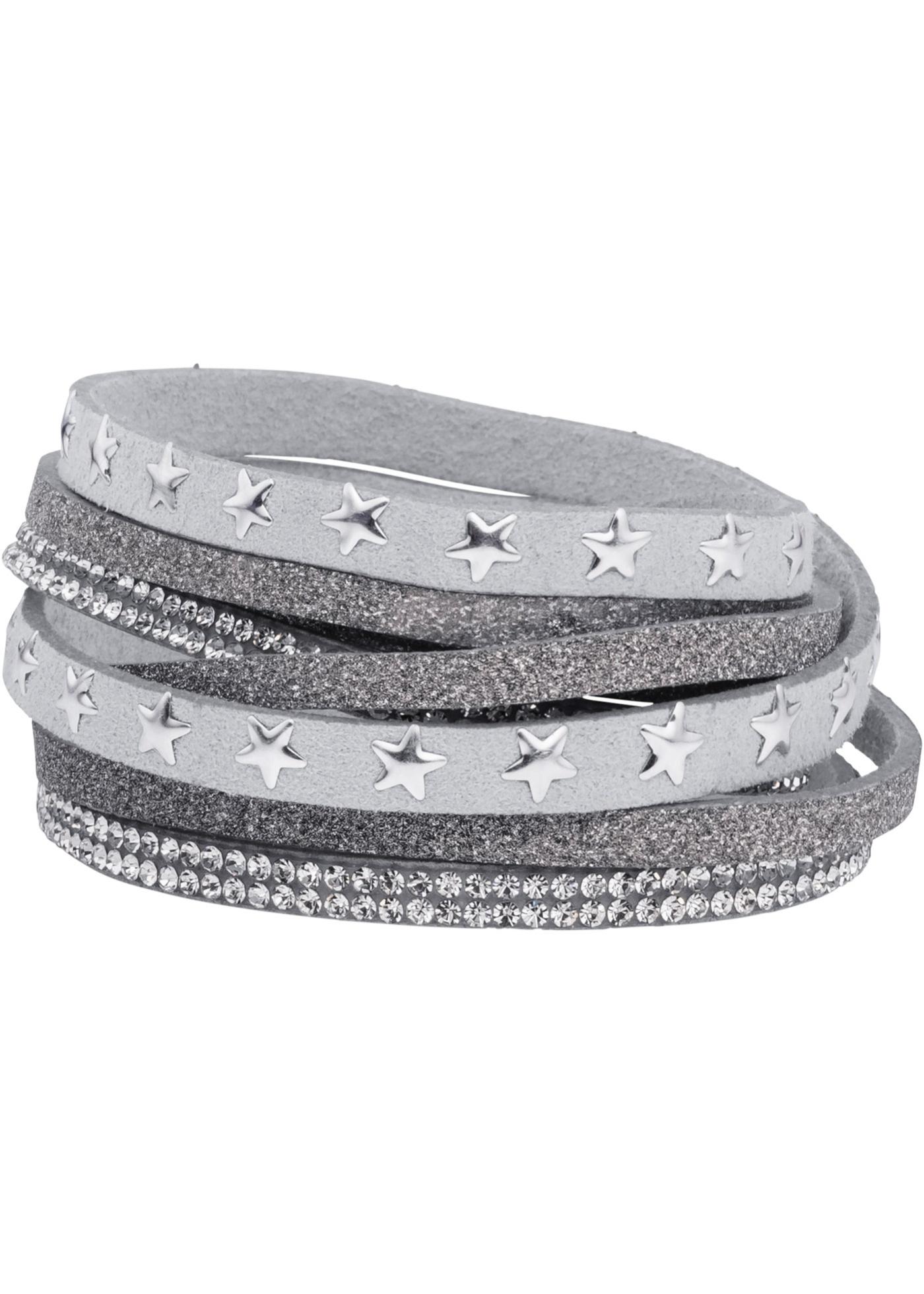 Un superbe effet autour du poignet ! Ce bracelet à enrouler se démarque par un look original. Différents coloris au choix.