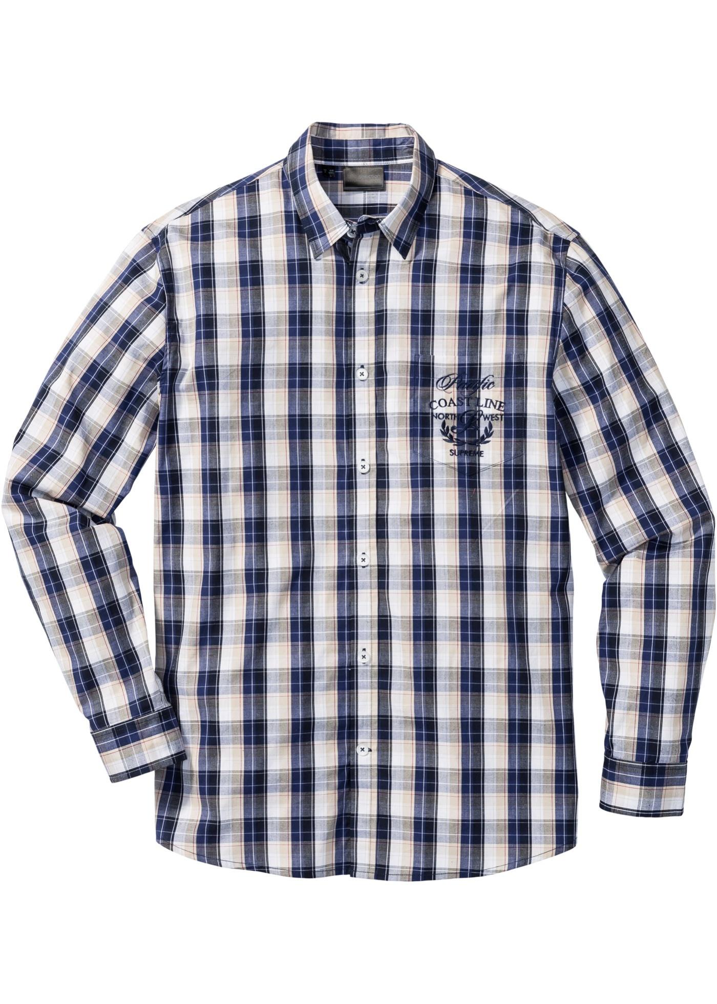 Chemise à manches longues à carreaux Regular Fit