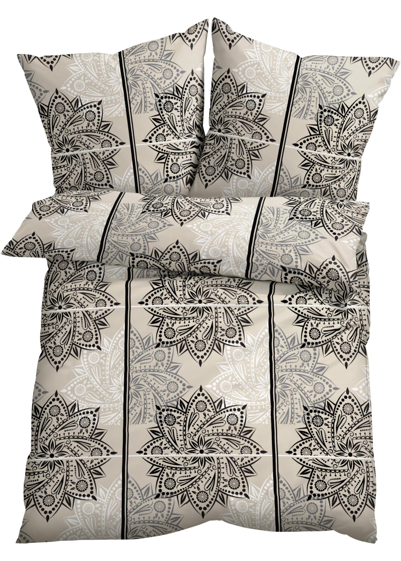 """Beau et intemporel, ce linge de lit imprimé avec des motifs graphiques fait de l""""effet."""