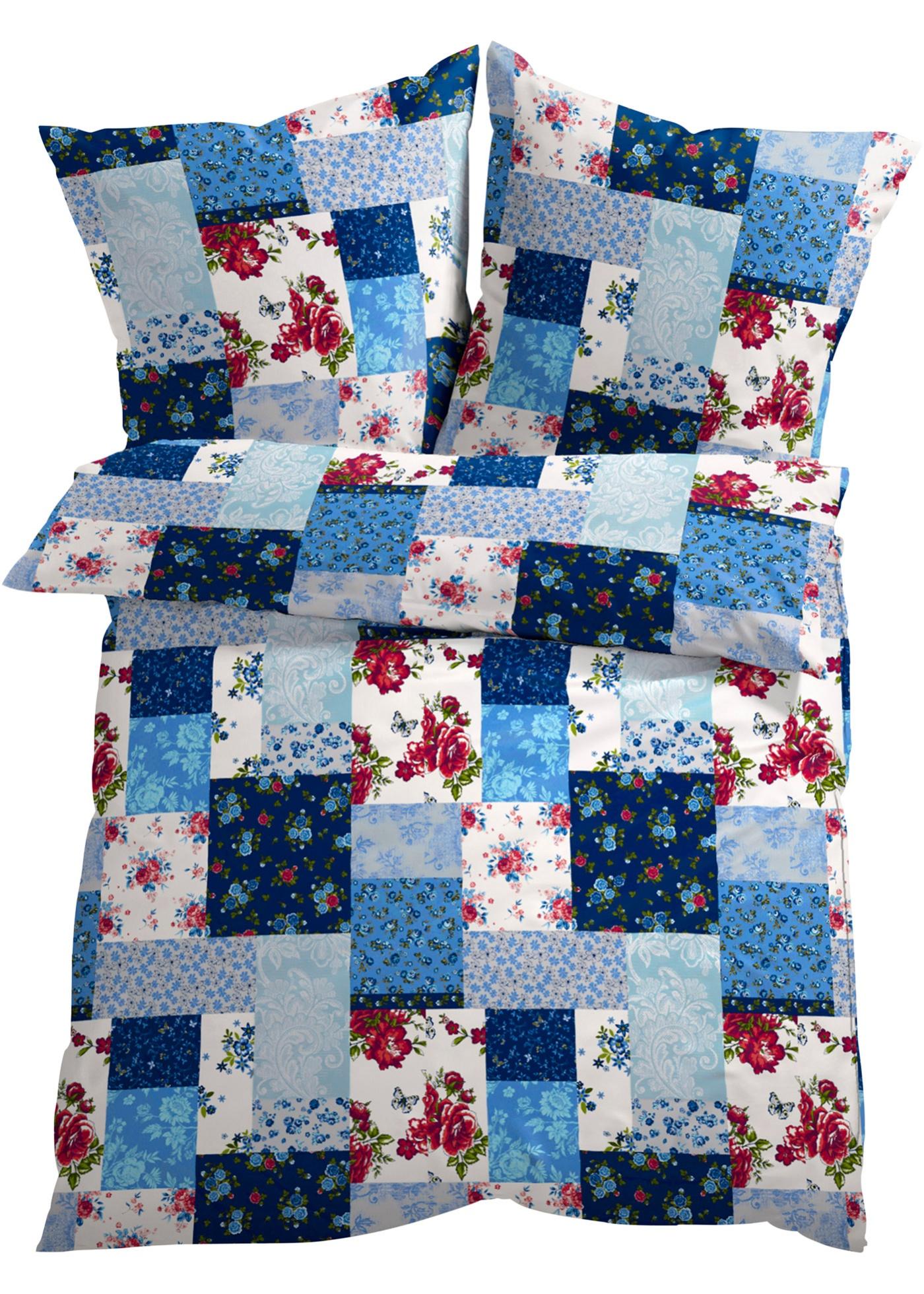 """Superbe linge de lit à l""""imprimé patchwork romantique. Jolie combinaison de coloris et divers motifs fleuris pour mettre de la bonne humeur dans votre chambre à coucher. Plusieurs matières disponibles."""