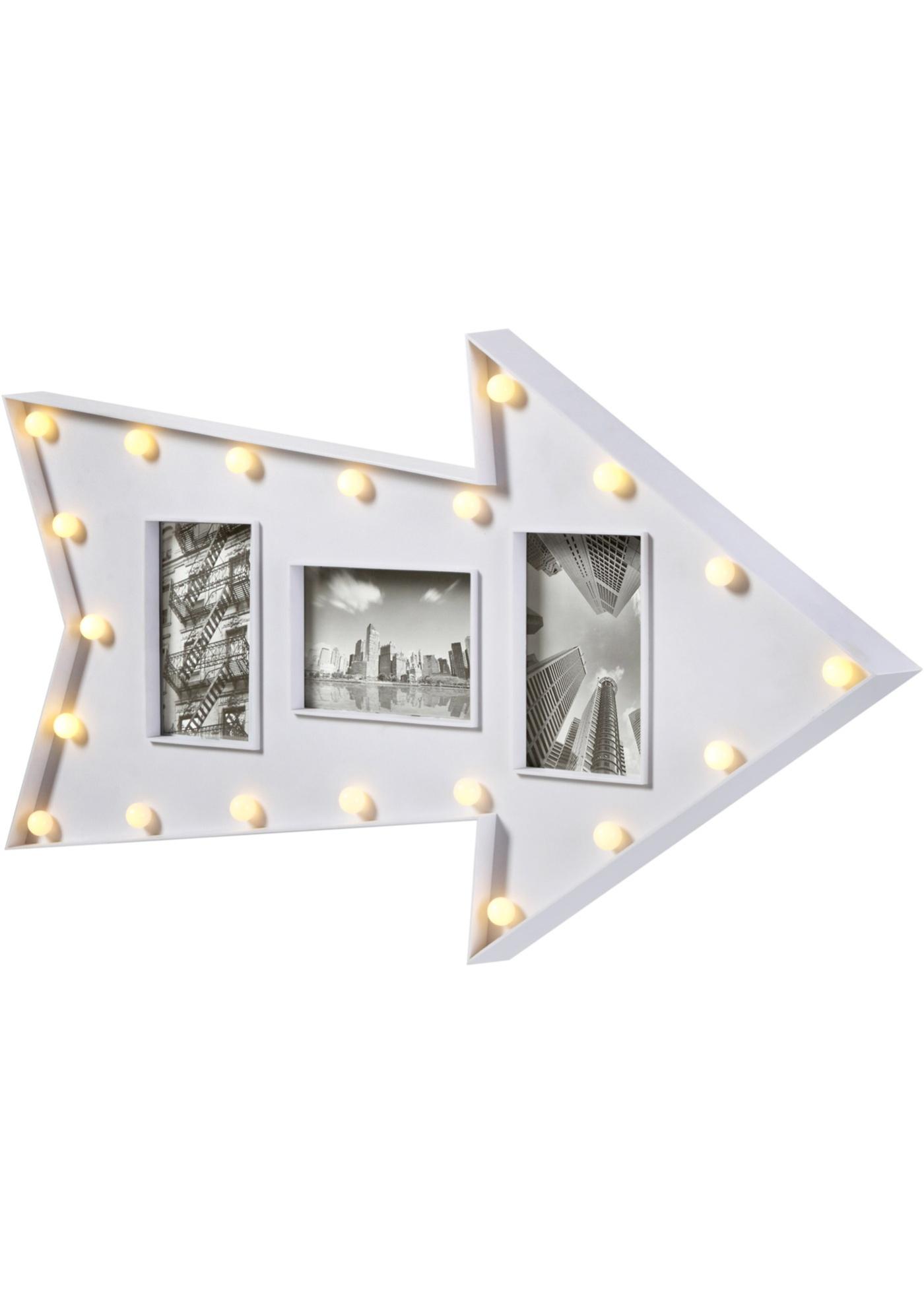 Flèche à LED avec cadres-photos