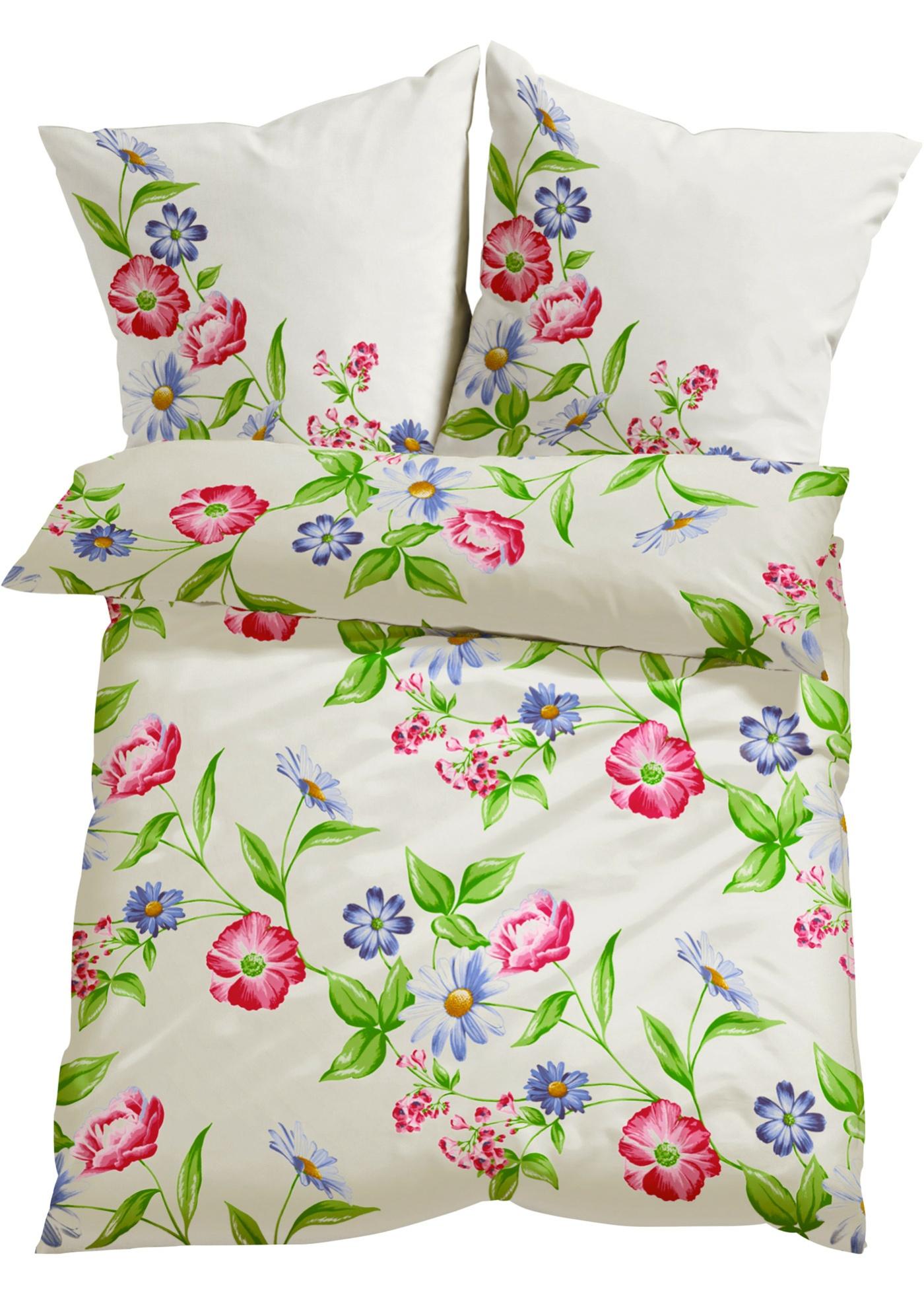 Parure de lit Pluie de fleurs, linon
