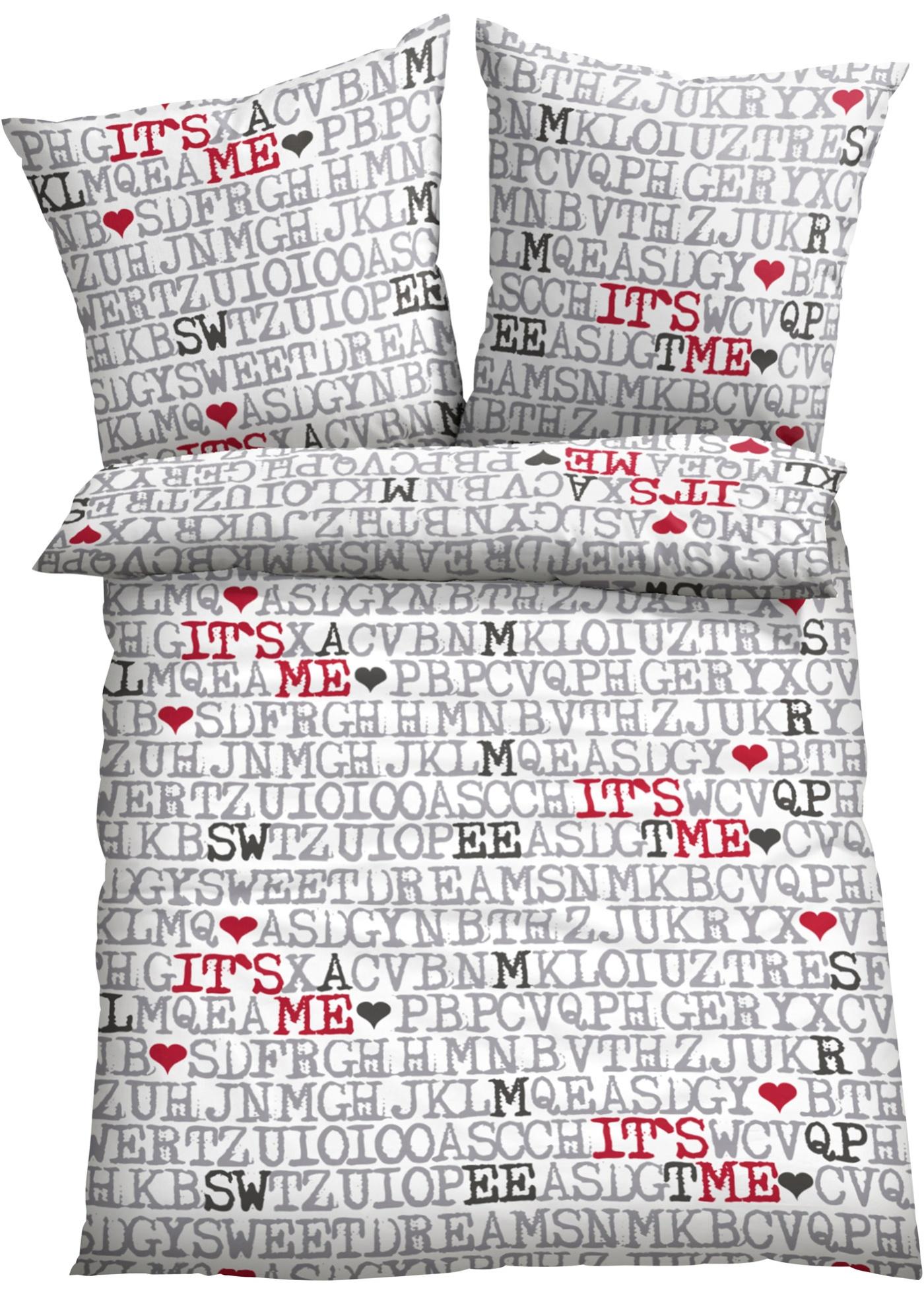 Parure de lit Letters, linon