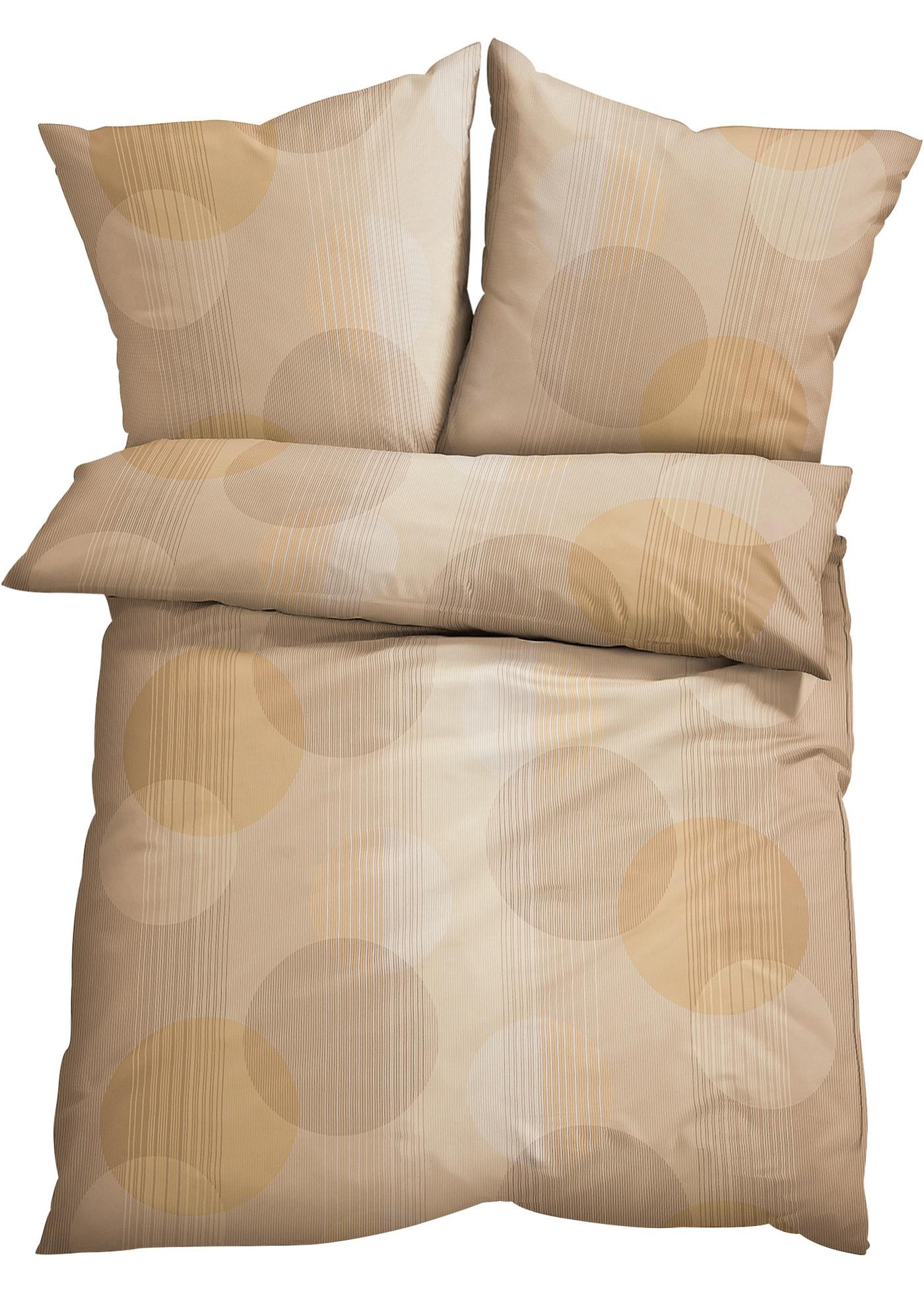 Linge de lit imprimé à motif cercles.