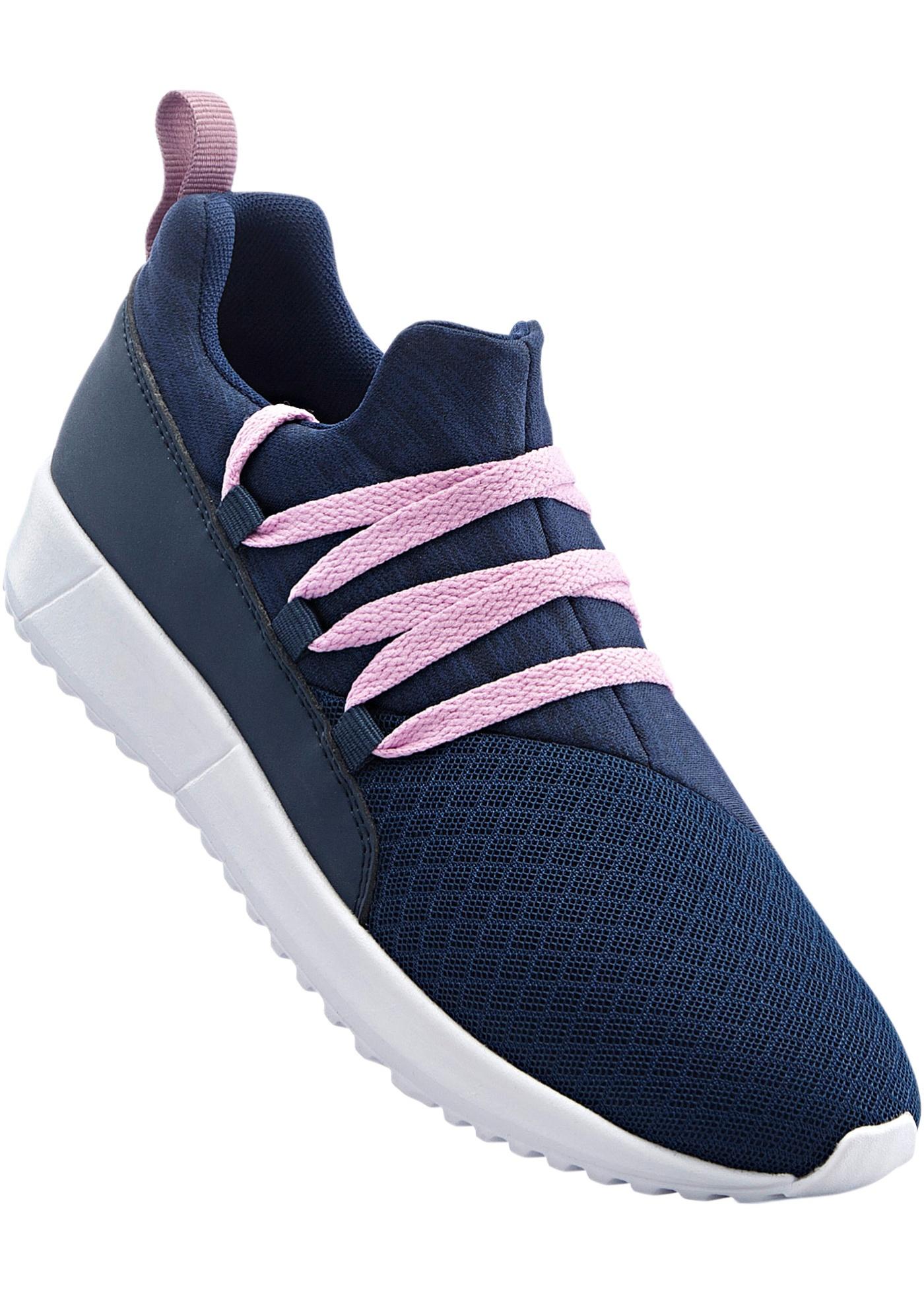 Sneakers avec laçage original, semelle extérieure légère, dessus souple.