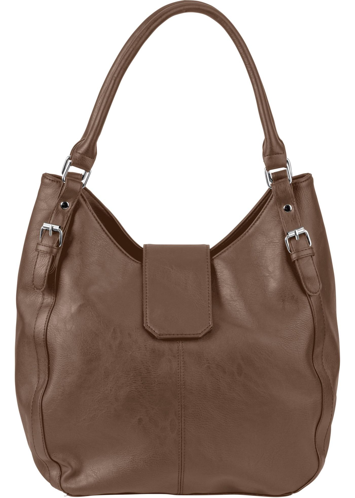 Classique et intemporel, le sac à main est constitué de matière synthétique imitation cuir. Idéal pour le quotidien, il est doté de poches pratiques et facilement accessibles. Agrémenté de coutures décoratives, d'une boucle magnétique et de clous, il conv