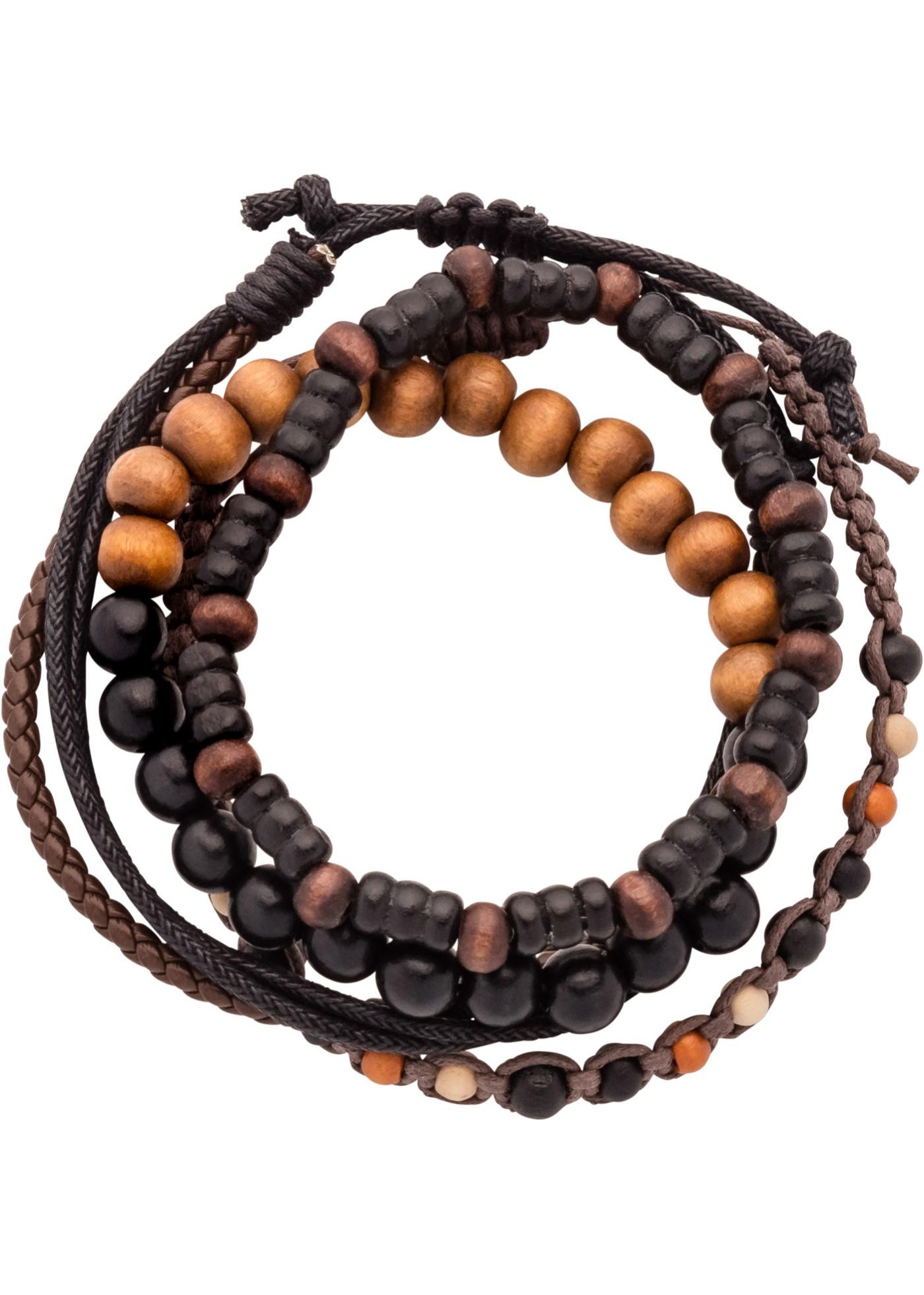 Bracelets noir et marron originaux au look vintage. Tour de poignet env. 22 cm.