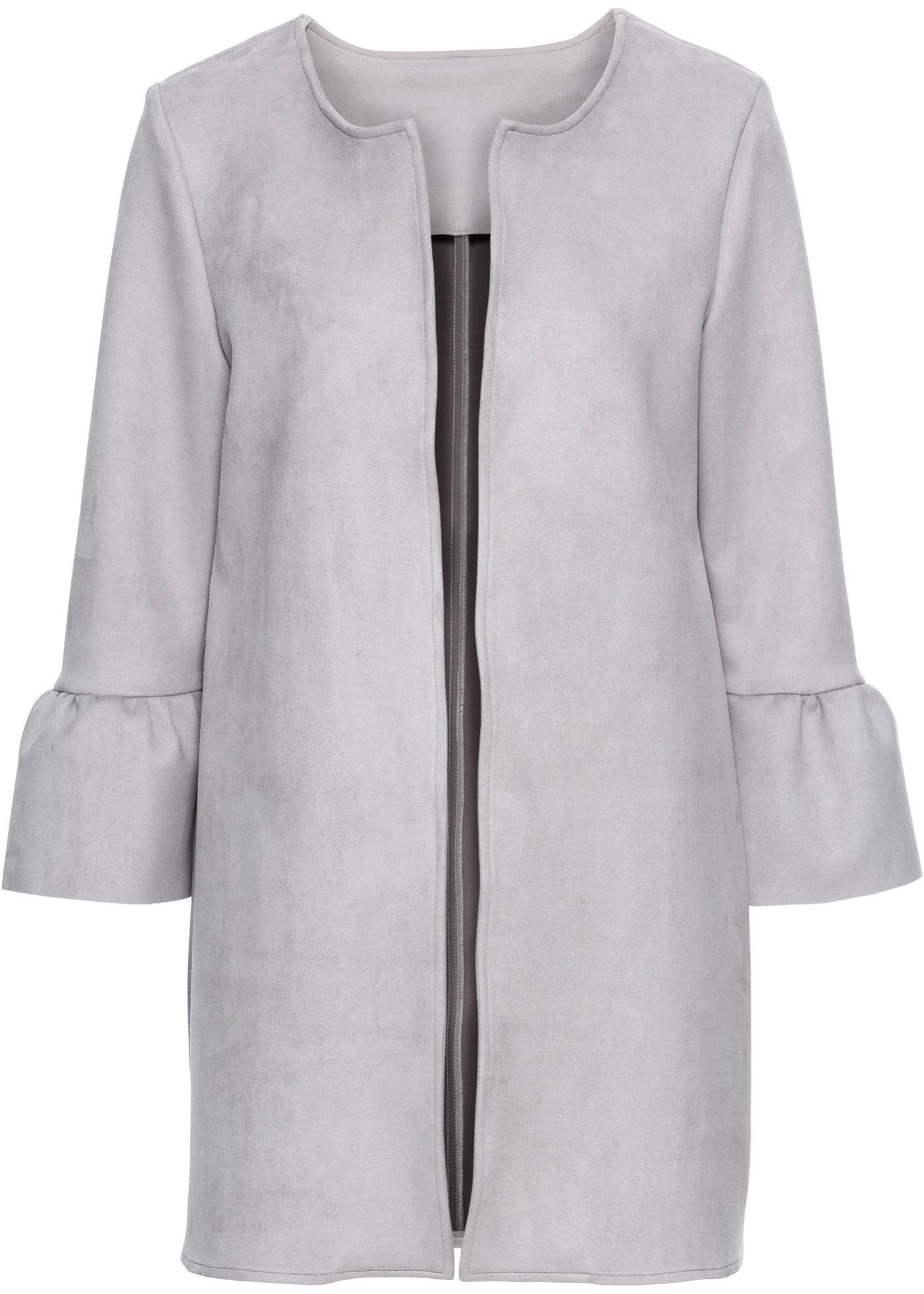 Manteau en synthétique imitation cuir velours ? manches cloche