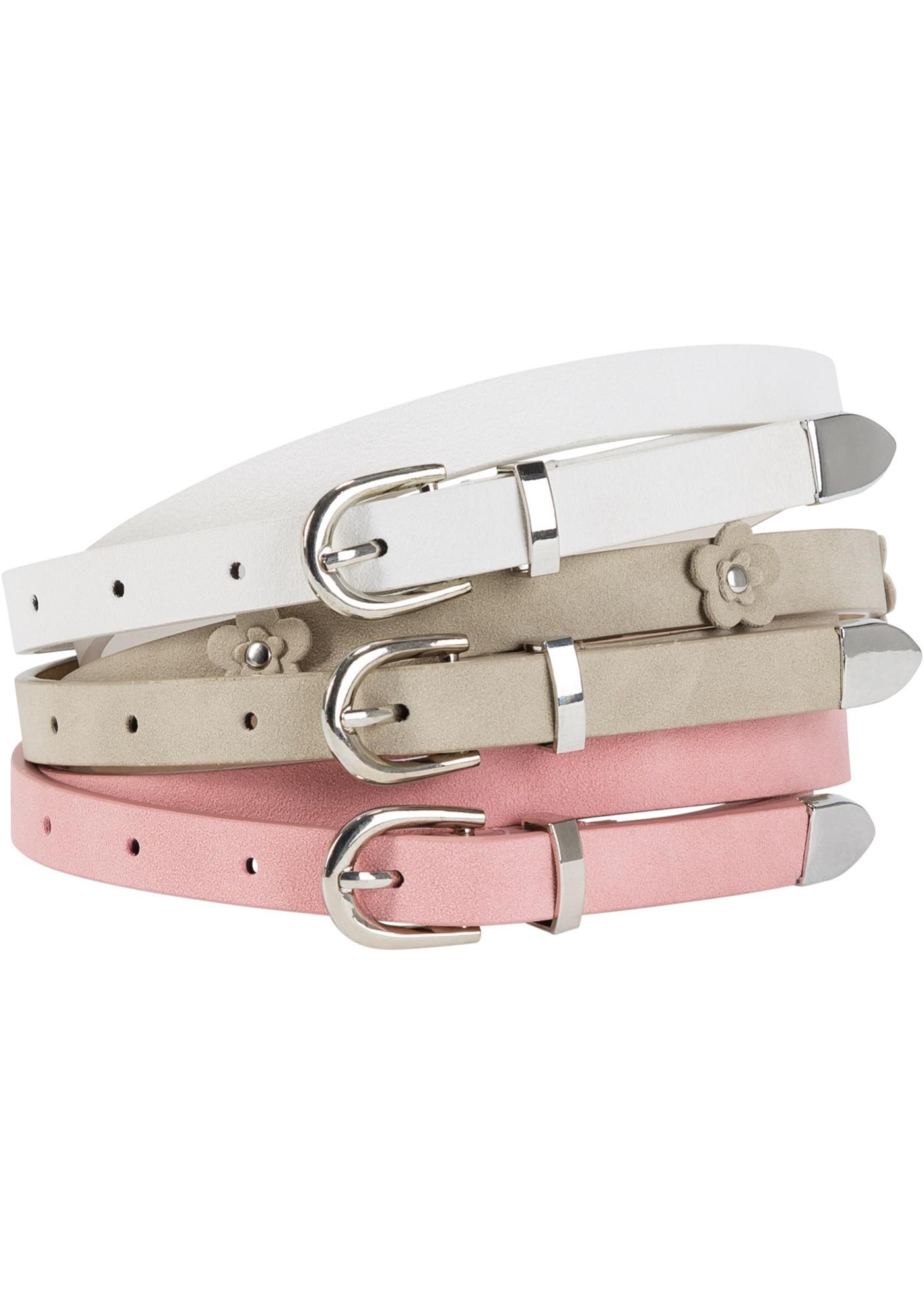 Lot de 3 ceintures