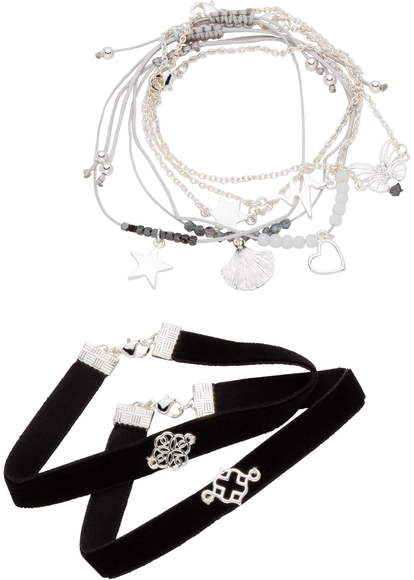 Lot de 8 jolis bracelets de styles différents, un must pour chaque armoire à bijoux.