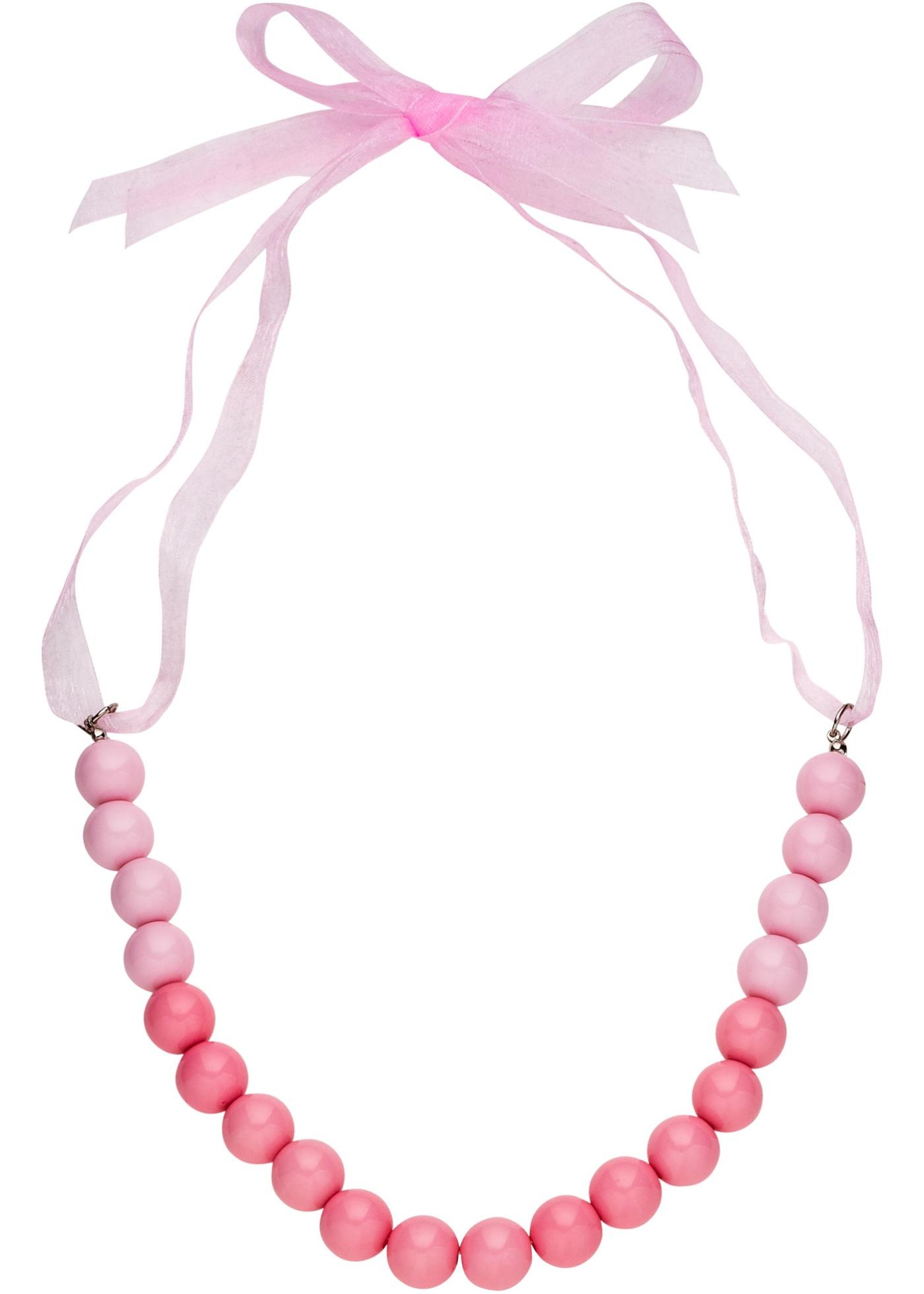 Collier de perles avec ruban satin
