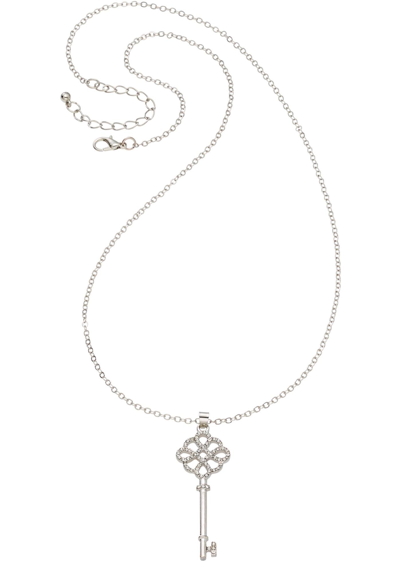 Adorable collier à pendentif en forme de clé, un véritable plus pour tous vos looks en journée ou en soirée.