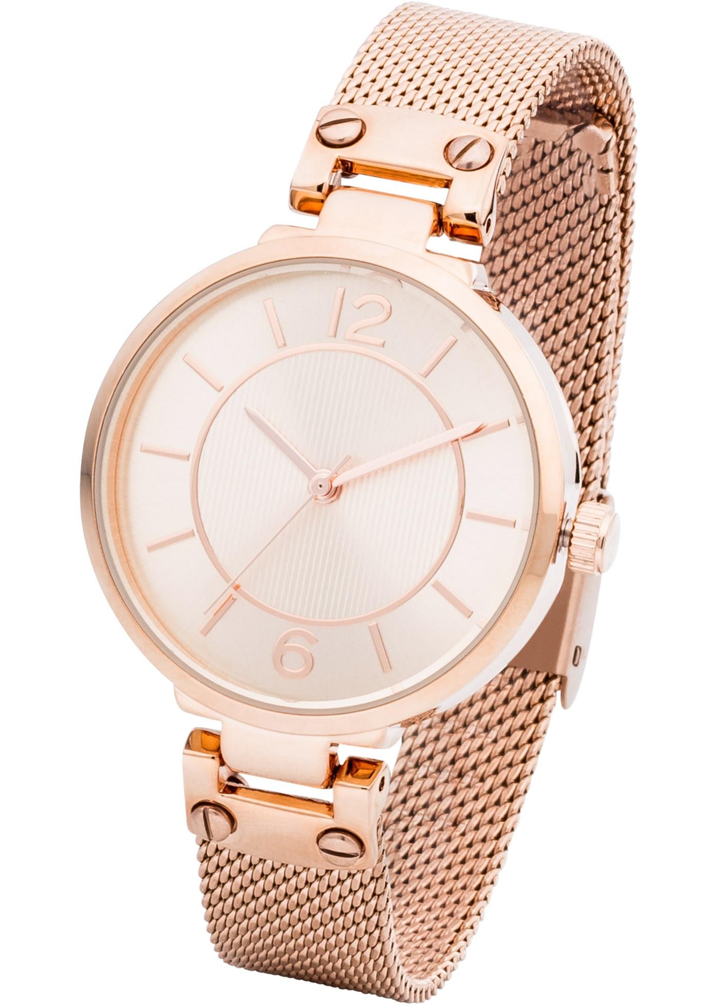 Montre à bracelet chic de bpc. Dim. : diamètre boîtier env. 3,2 cm. Prix comprenant éco-participation (F)=0,01€ ou recupel (B) =0,05€.