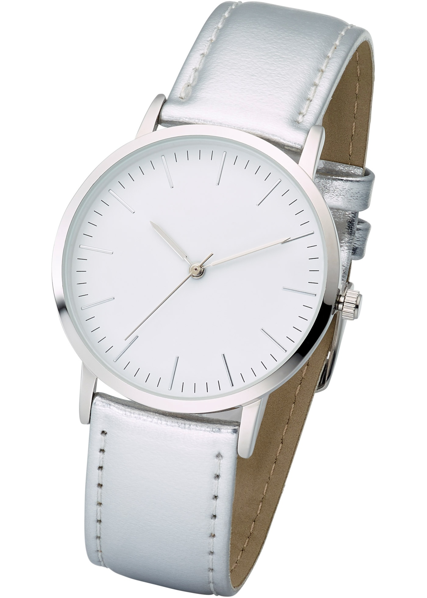 Cette montre sobre et moderne à la fois est un accessoire mode pour tous les jours. Largeur bracelet : env. 1,5 cm ; diamètre : env. 3,3 cm. Prix comprenant éco-participation (F)=0,01€ ou recupel (B) =0,05€.