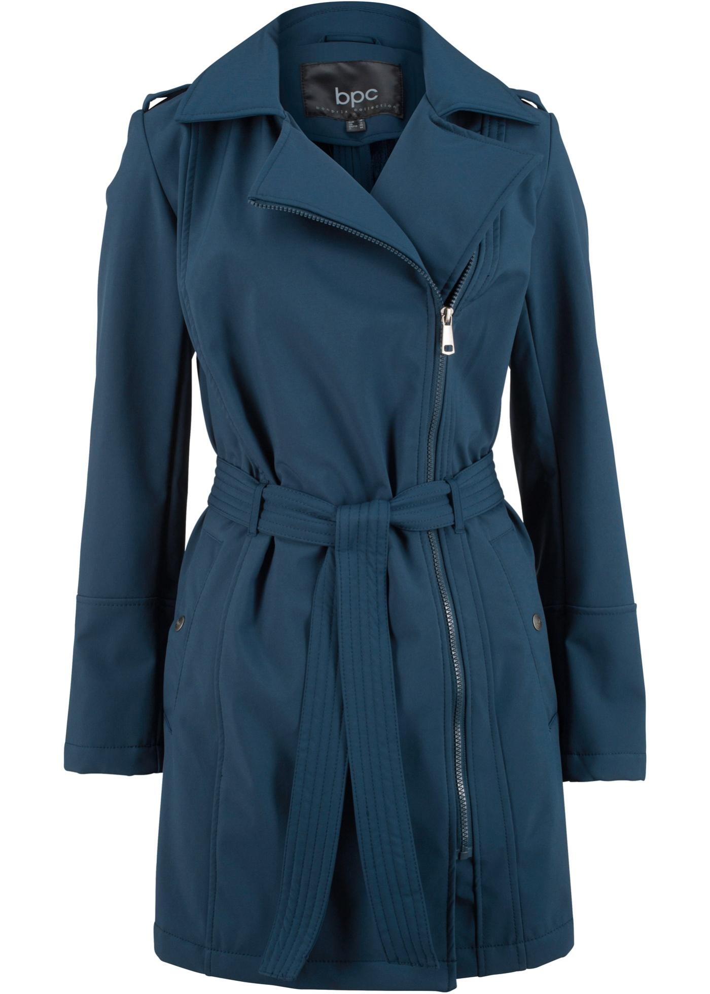 Manteau court softshell, coupe décontractée