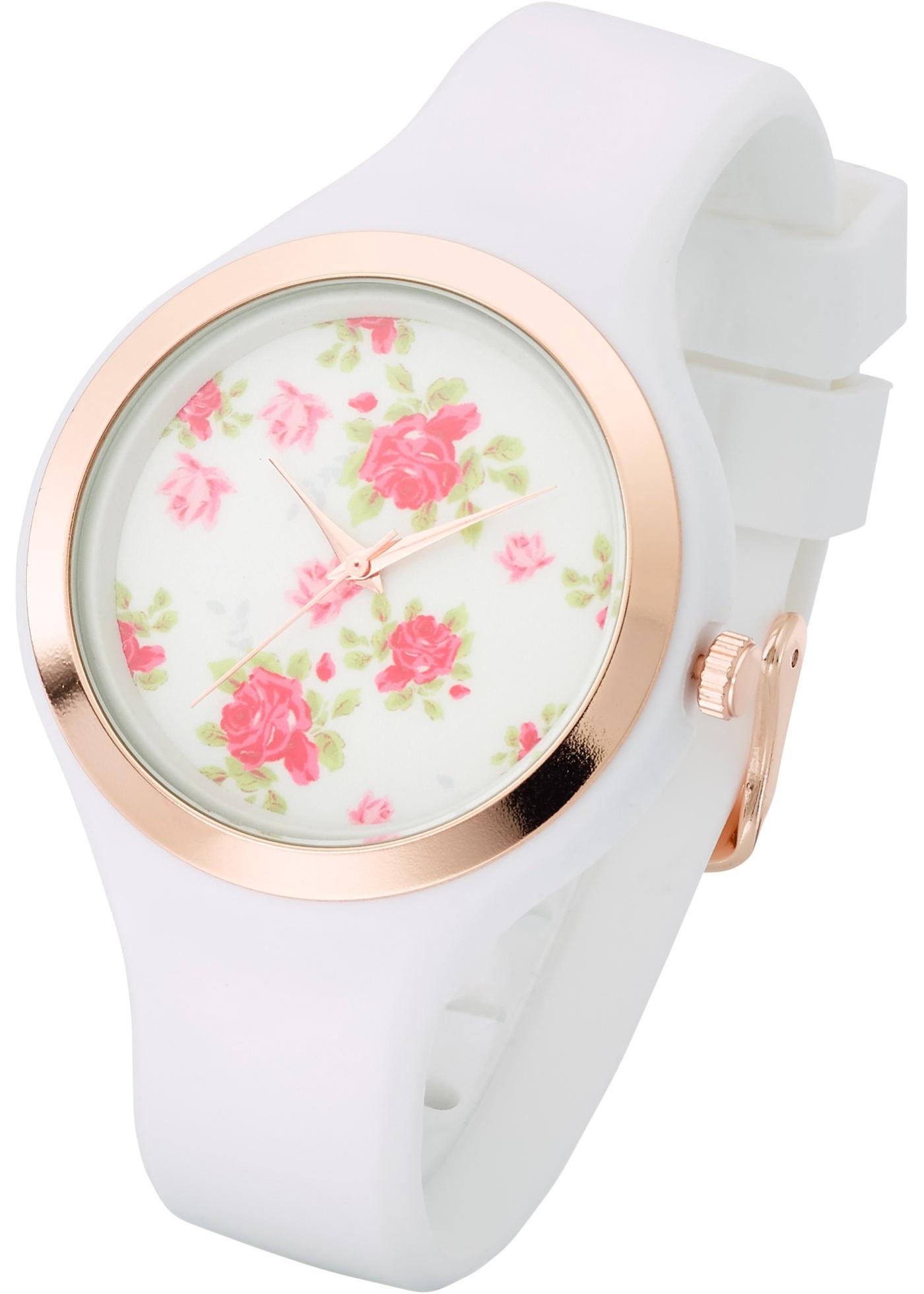 """Une jolie montre avec un bracelet en silicone qui s""""adapte confortablement à chaque poignet. Prix comprenant éco-participation (F)=0,01€ ou recupel (B) =0,05€."""