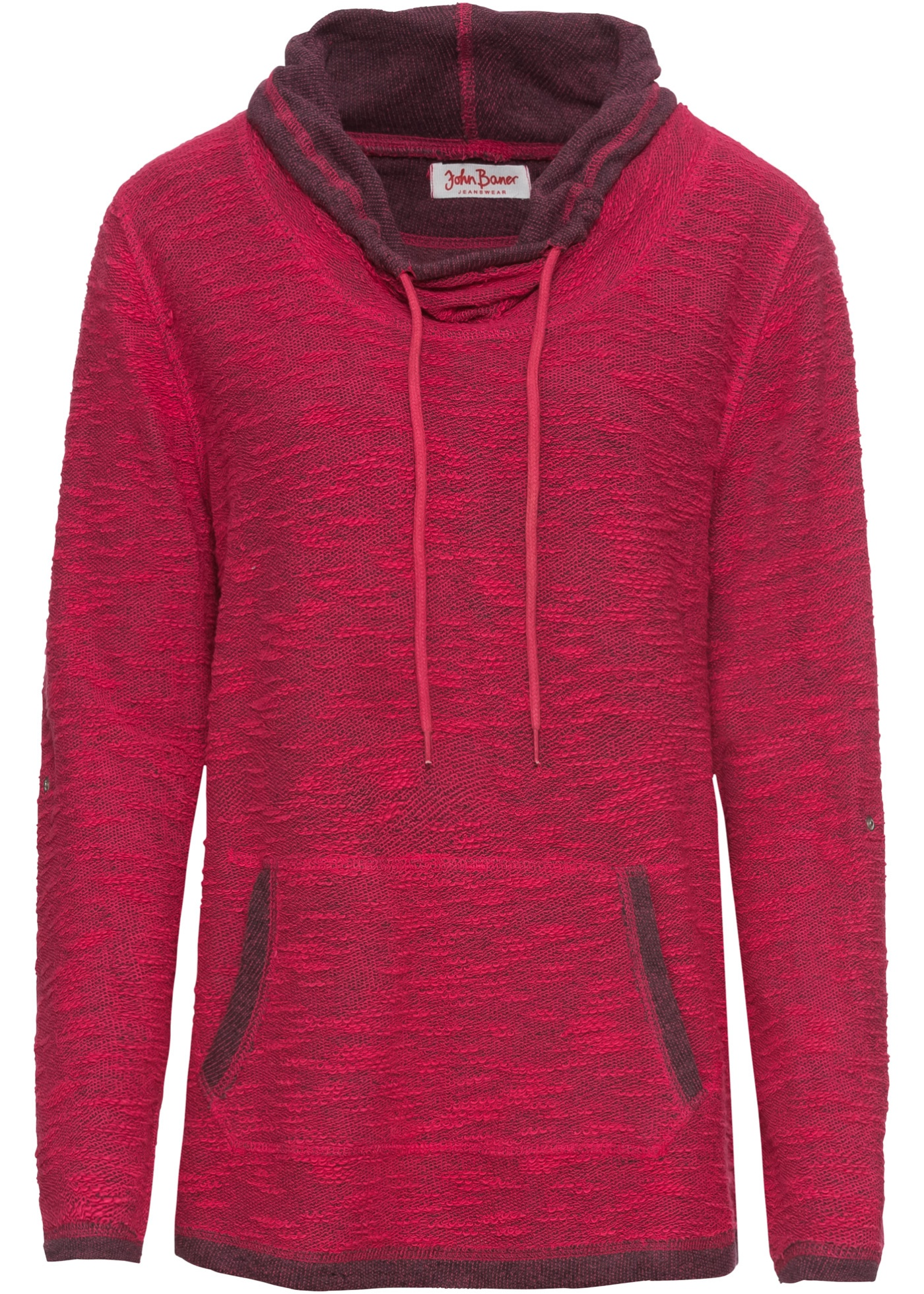 Sweat-shirt ? col ample, manches longues