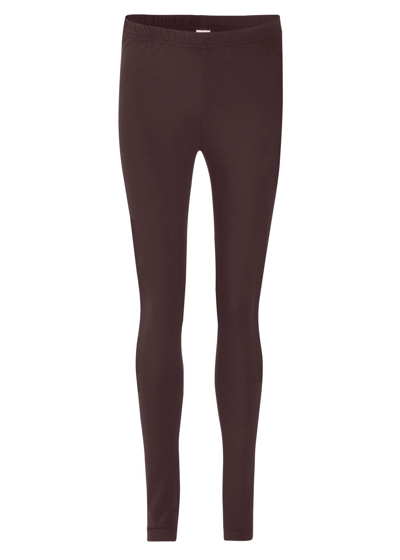 Legging marron très près du corps femme -...