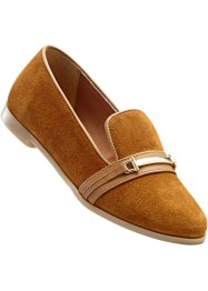 Slippers en cuir, bpc selection, taupe
