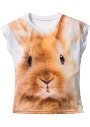 T-shirt 3D, bpc bonprix collection, blanc imprimé