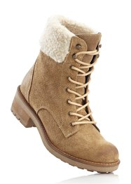 Bottines en cuir, bpc bonprix collection, marron clair