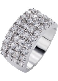 Bague Zirconia, bpc bonprix collection, argenté/blanc
