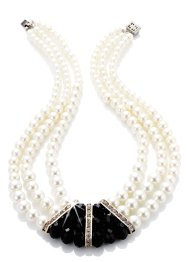 Collier de perles Scarlett, bpc bonprix collection, champagne/noir