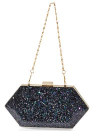 Pochette rigide Paillettes, bpc bonprix collection, noir
